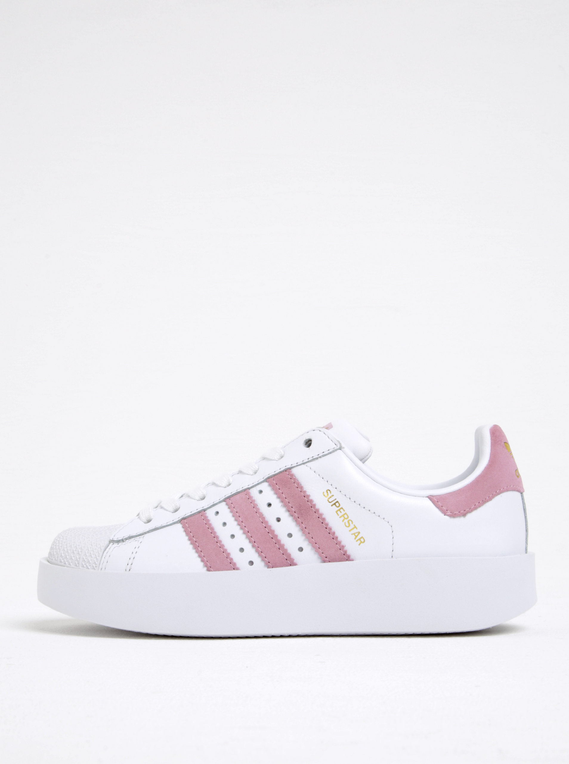 1122ea53aa05 Biele dámske kožené tenisky na platforme adidas Originals ...