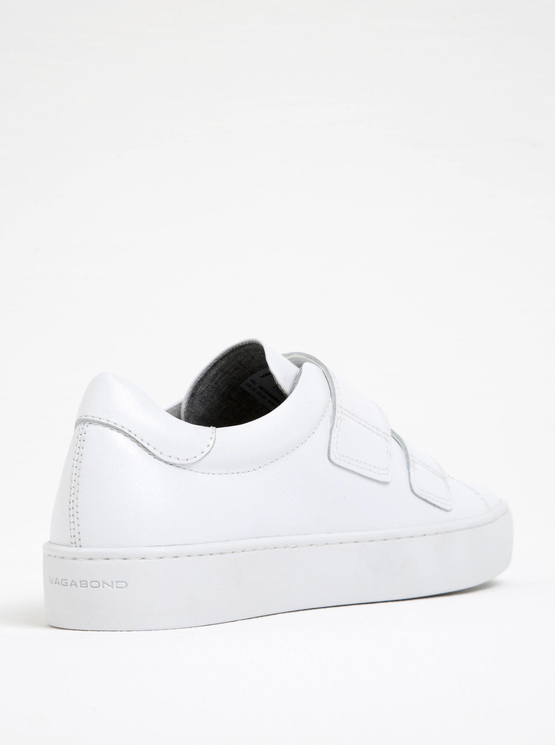 Biele dámske kožené tenisky na suchý zips Vagabond Zoe ... 47182ed0047