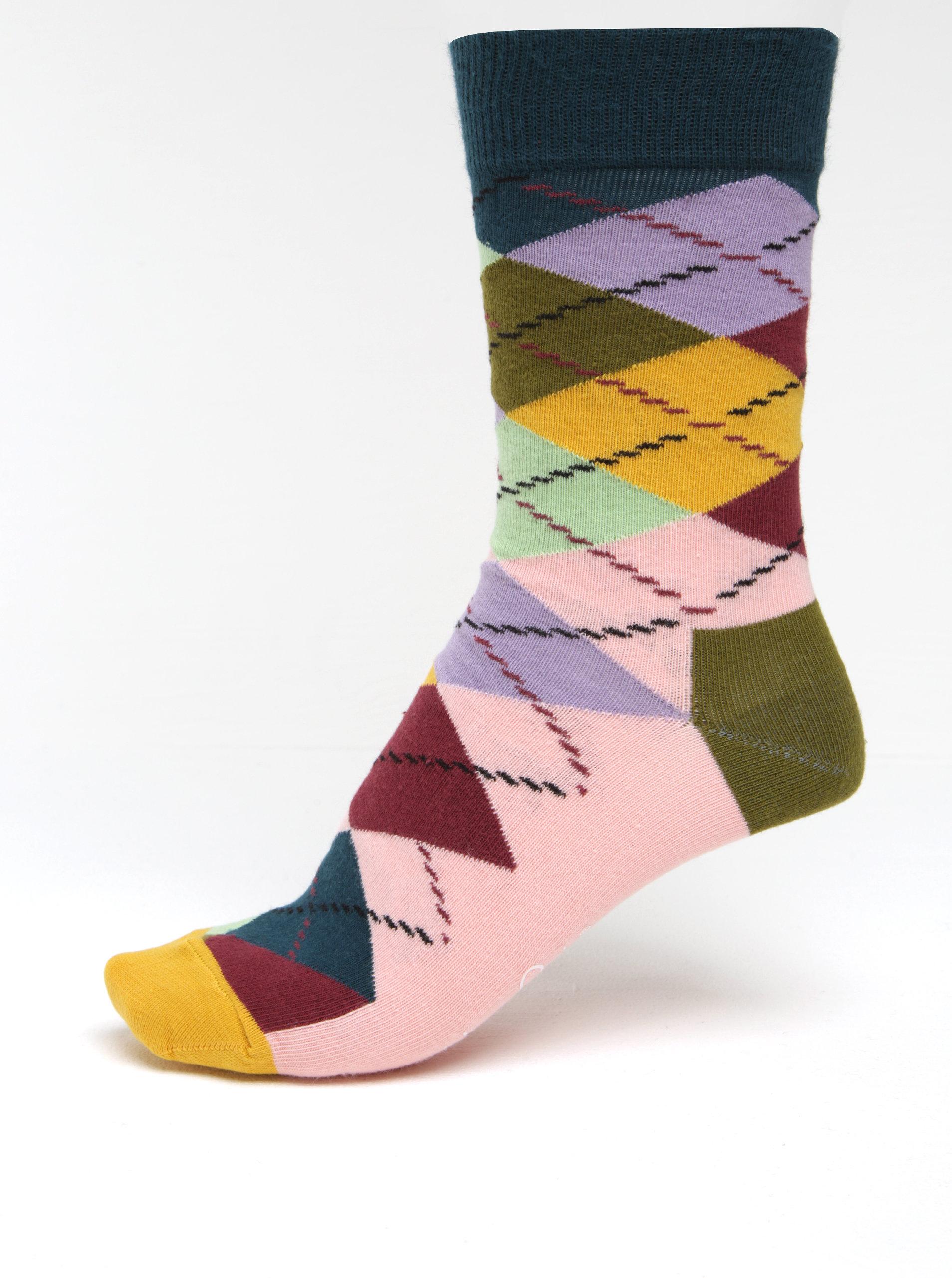 a4fdb4a84b1 Barevné dámské kárované ponožky Happy Socks Argyle ...