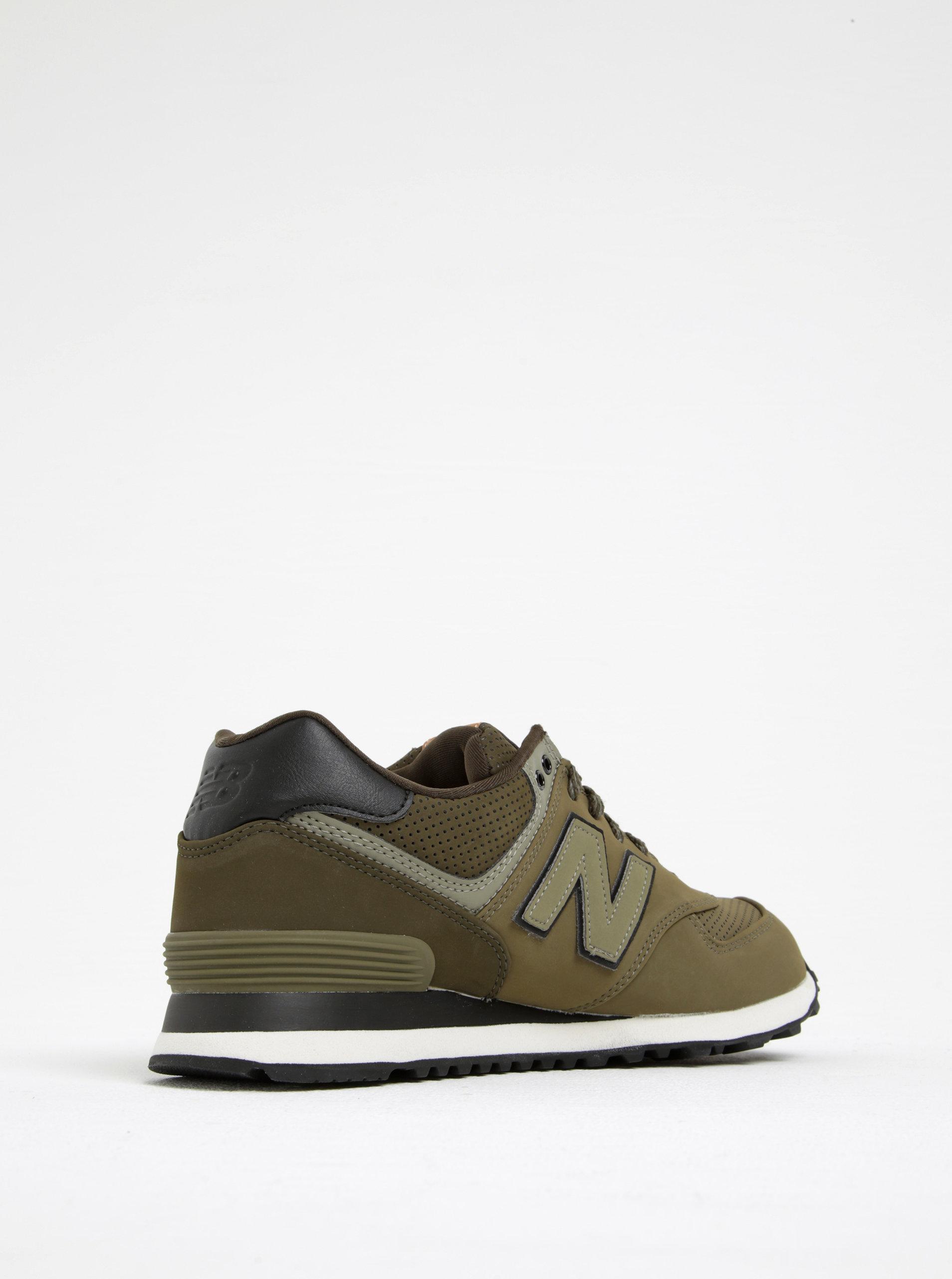 488d48fff5a Černo-zelené pánské tenisky New Balance ...