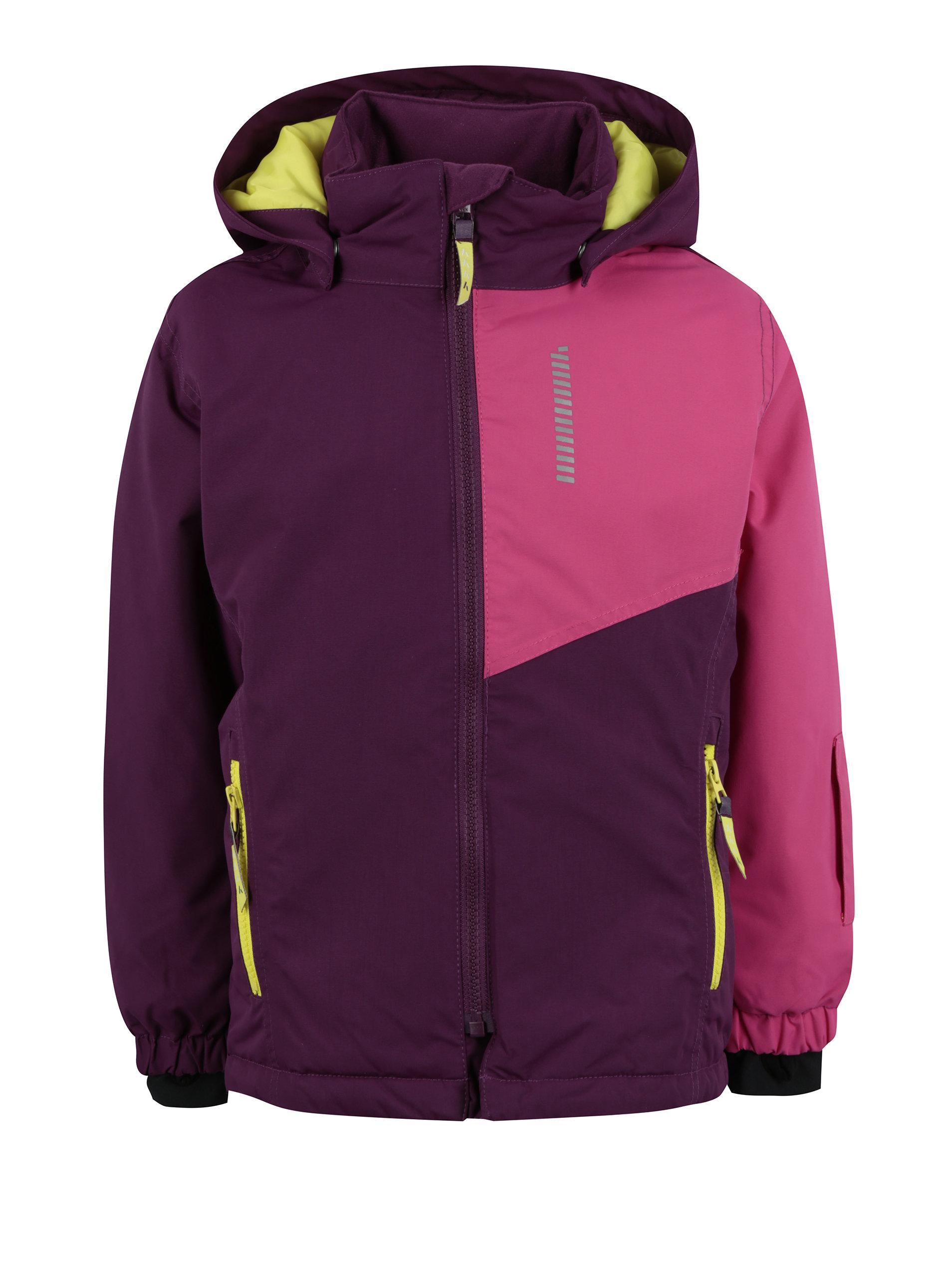 Růžovo-fialová holčičí zimní bunda Name it Storm - Akční cena ... 3f5a25df0b7