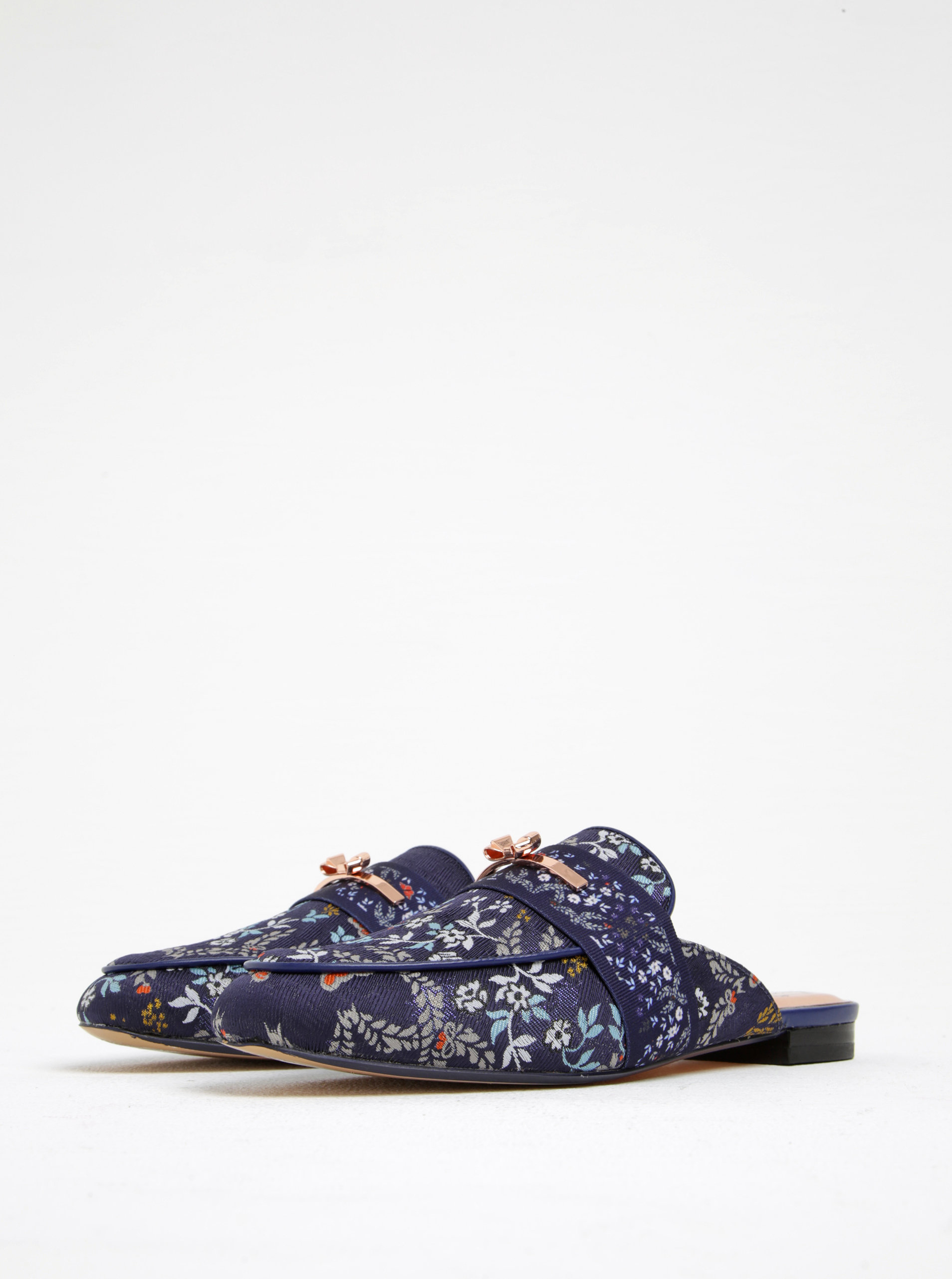 aff889453faa Modré kvetinové šľapky Ted Baker Dorlinj ...