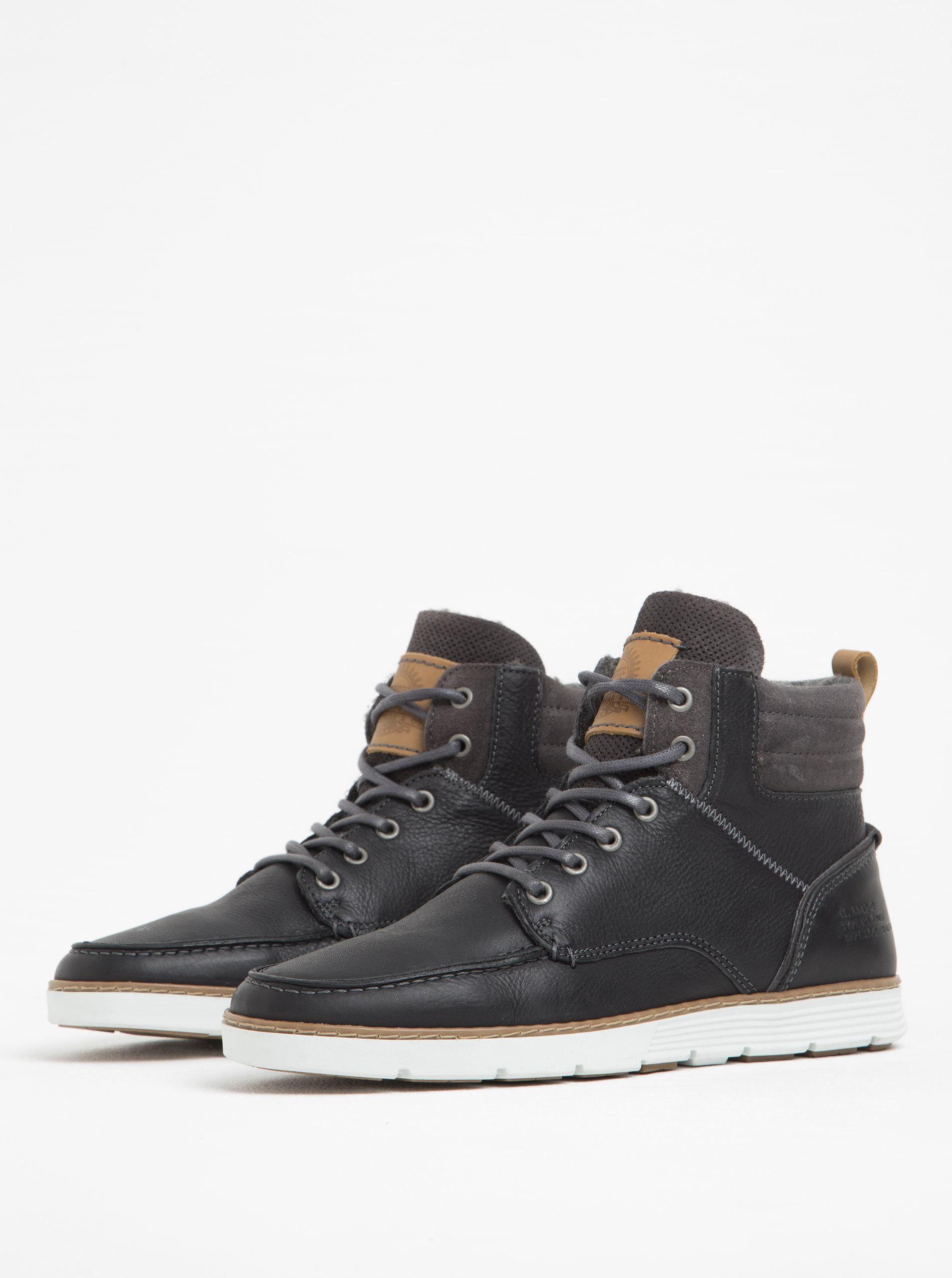 cebe61f131736 Čierne pánske kožené členkové topánky Bullboxer | ZOOT.sk