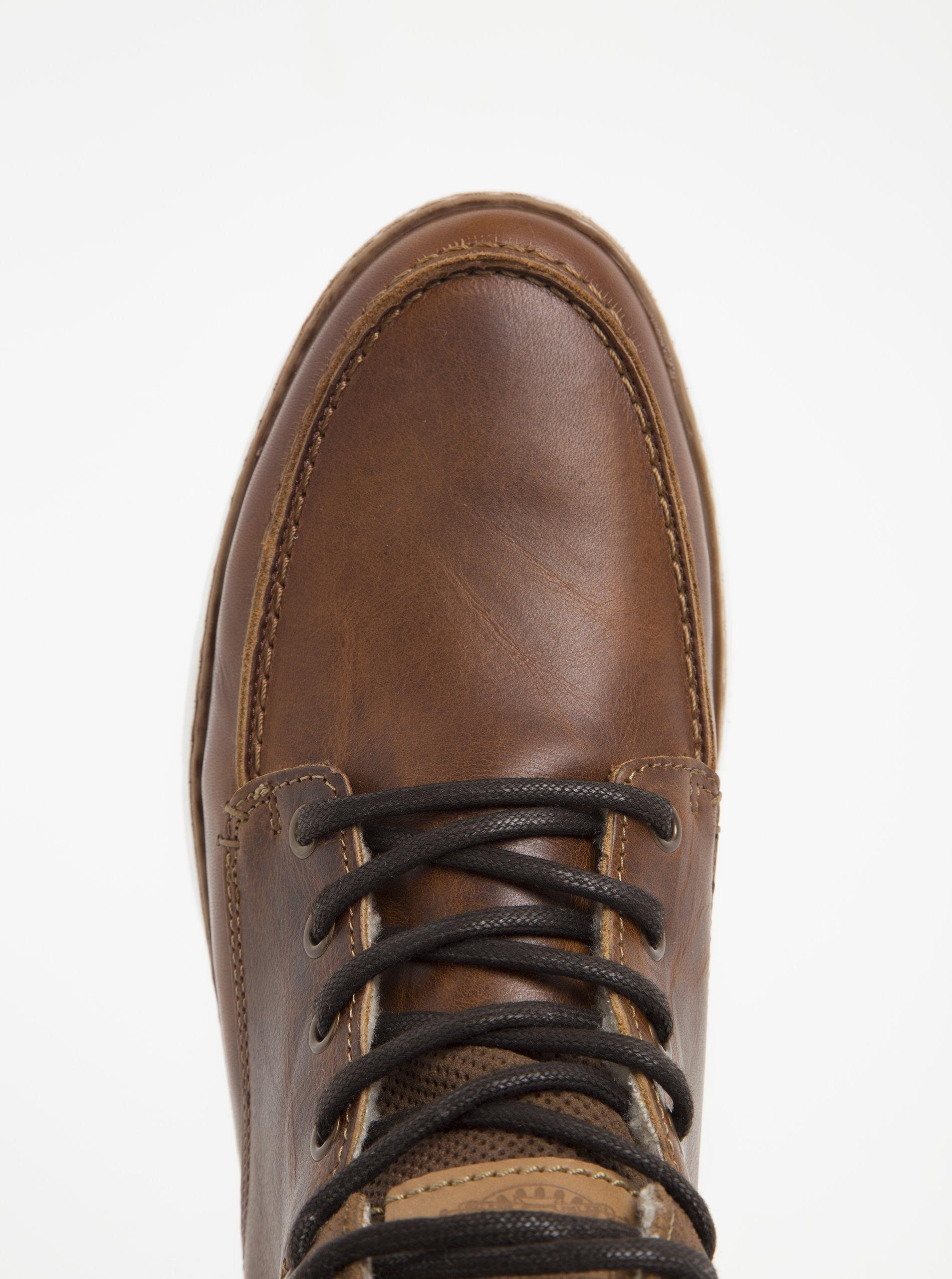 15a61e9dc6e Hnědé pánské kožené kotníkové boty Bullboxer ...