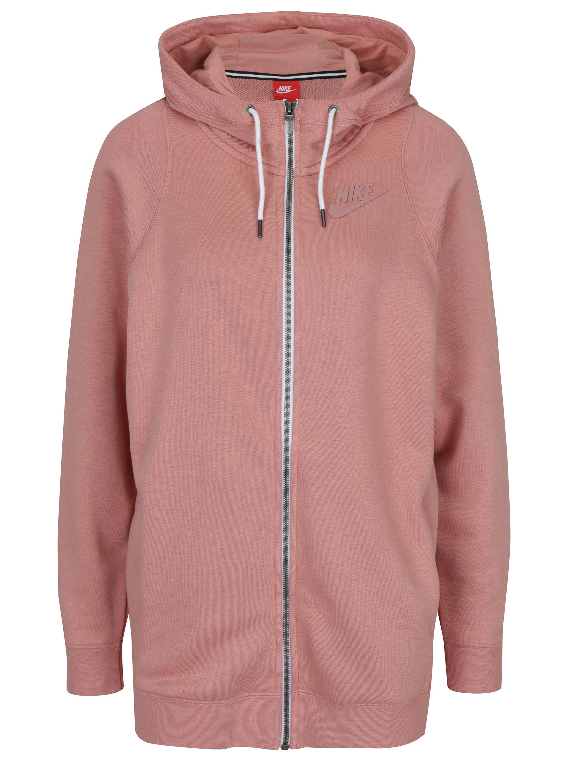 Ružová dámska mikina s kapucňou Nike Sportswear Modern ... a9f384e7c4b