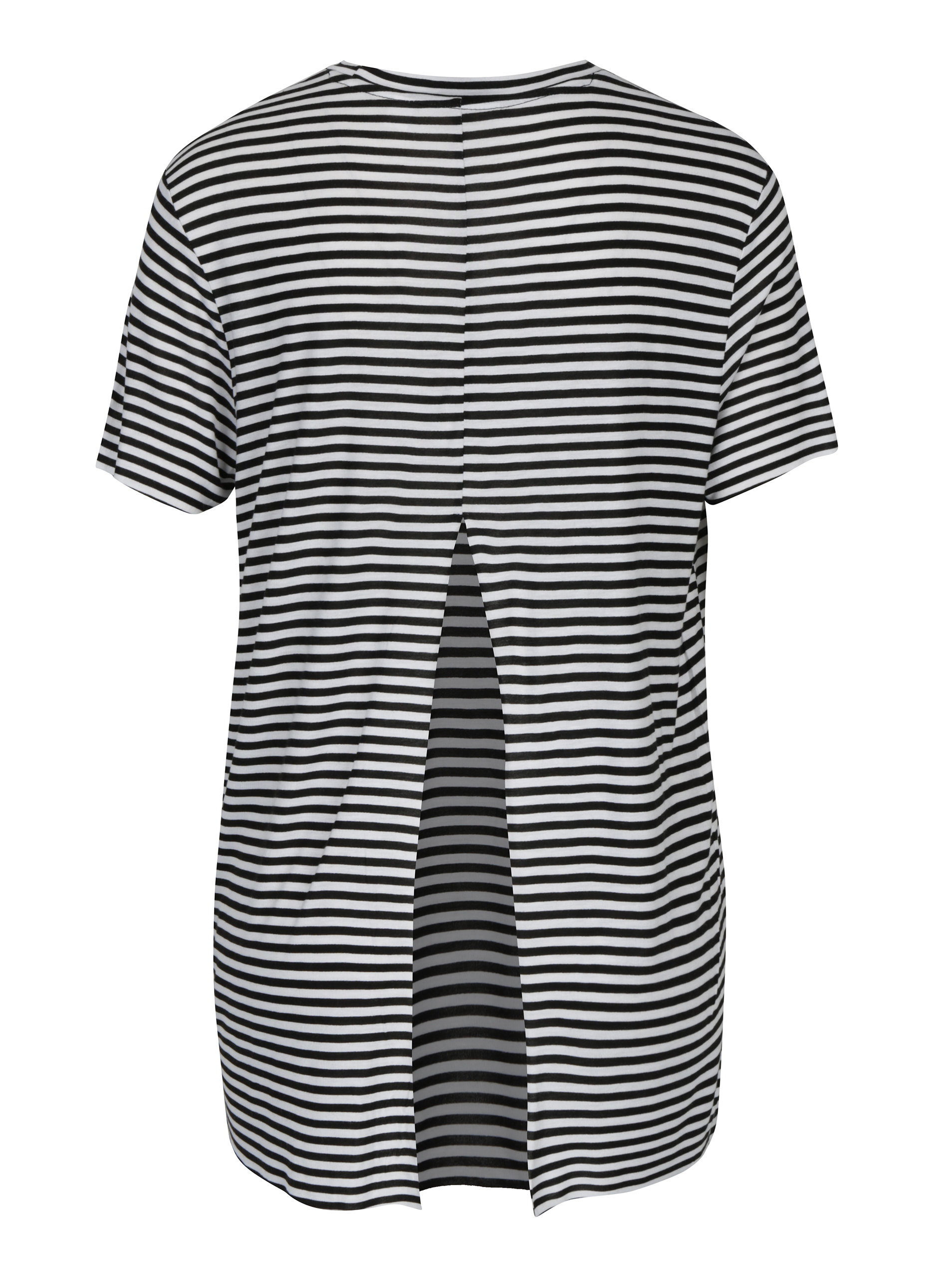 96b9a9e0c3e Černo-bílé dámské pruhované volné tričko s průstřihem na zádech Cheap Monday  ...