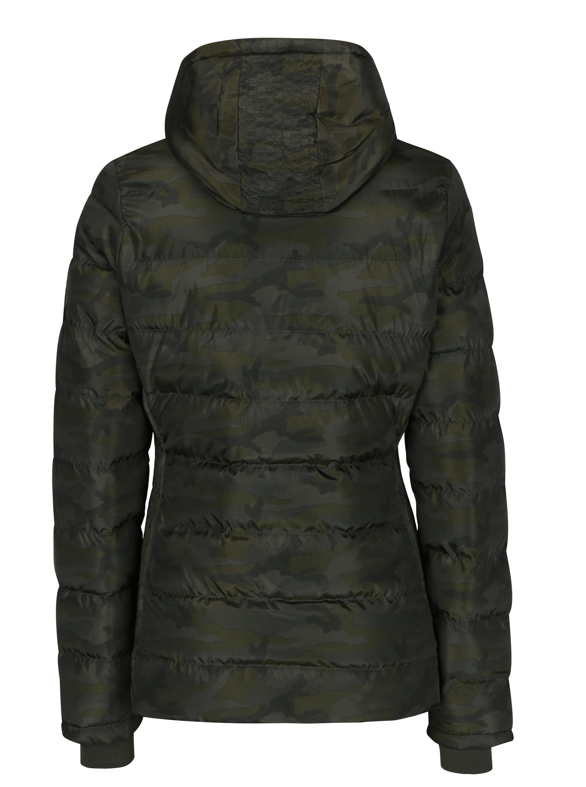 3278eecdc324 Kaki dámska maskáčová bunda s kapucňou Cars Sanny ...