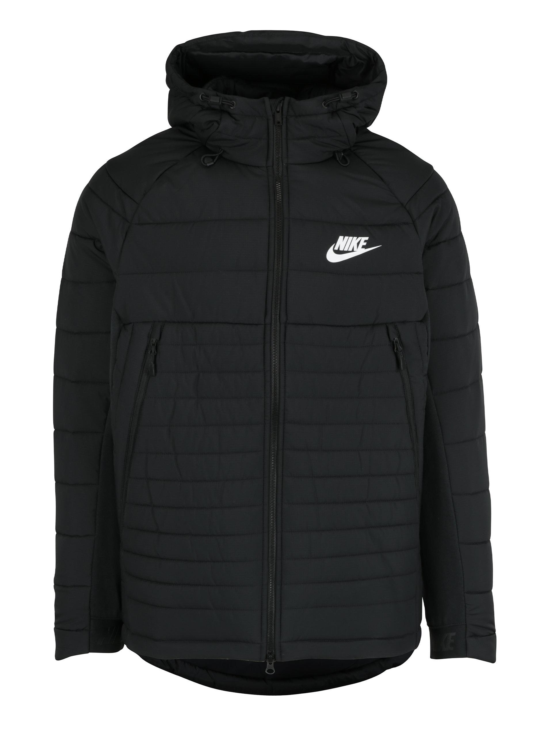 Čierna pánska zimná prešívaná bunda s kapucňou Nike Sportswear Fill ... 1c253f39547