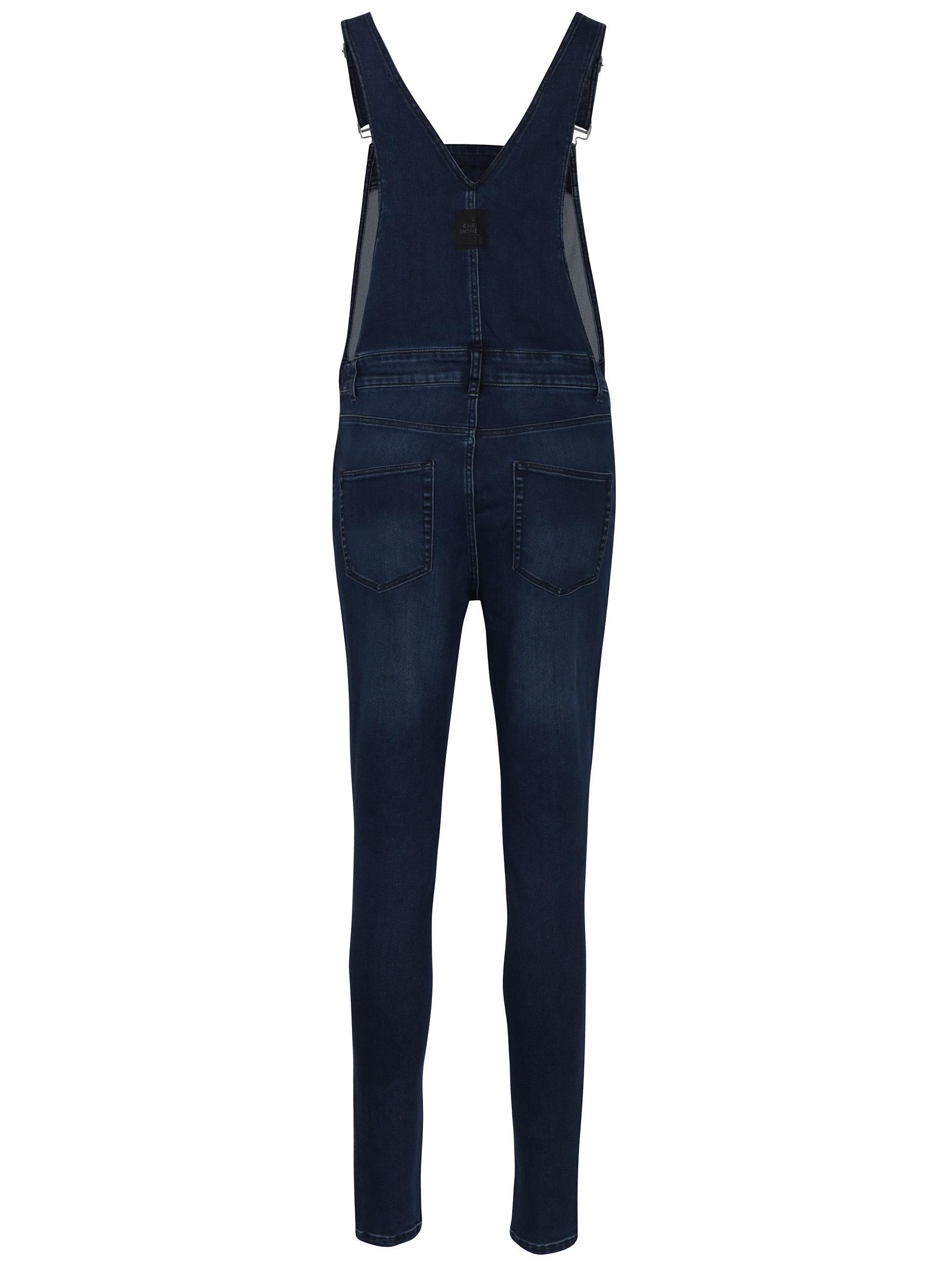 dd042ce742e0 Tmavomodré dámske rifľové trakové nohavice s vysokým pásom Cheap Monday ...