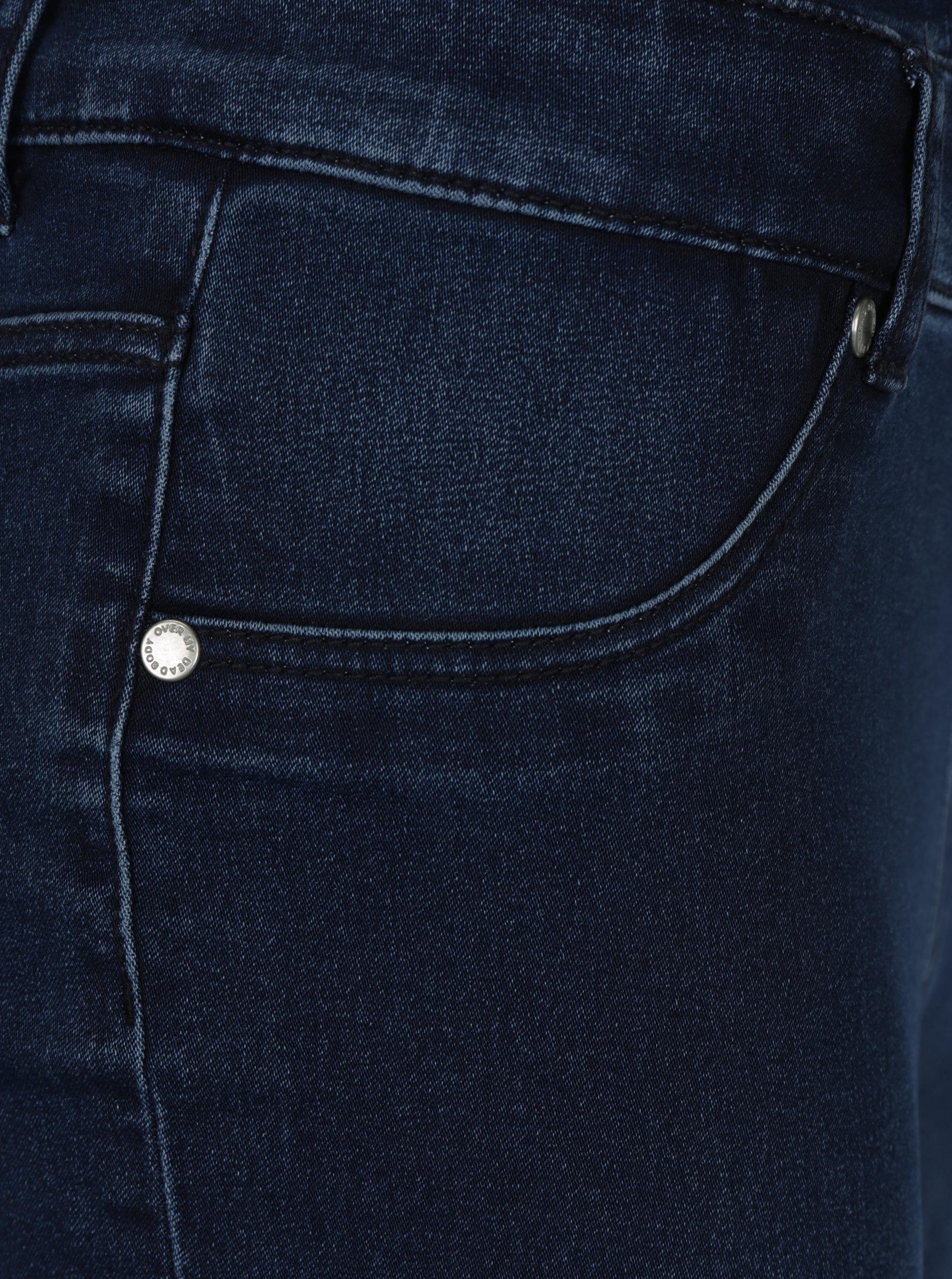 Tmavě modré dámské džínové lacláče s vysokým pasem Cheap Monday ... de20a05030