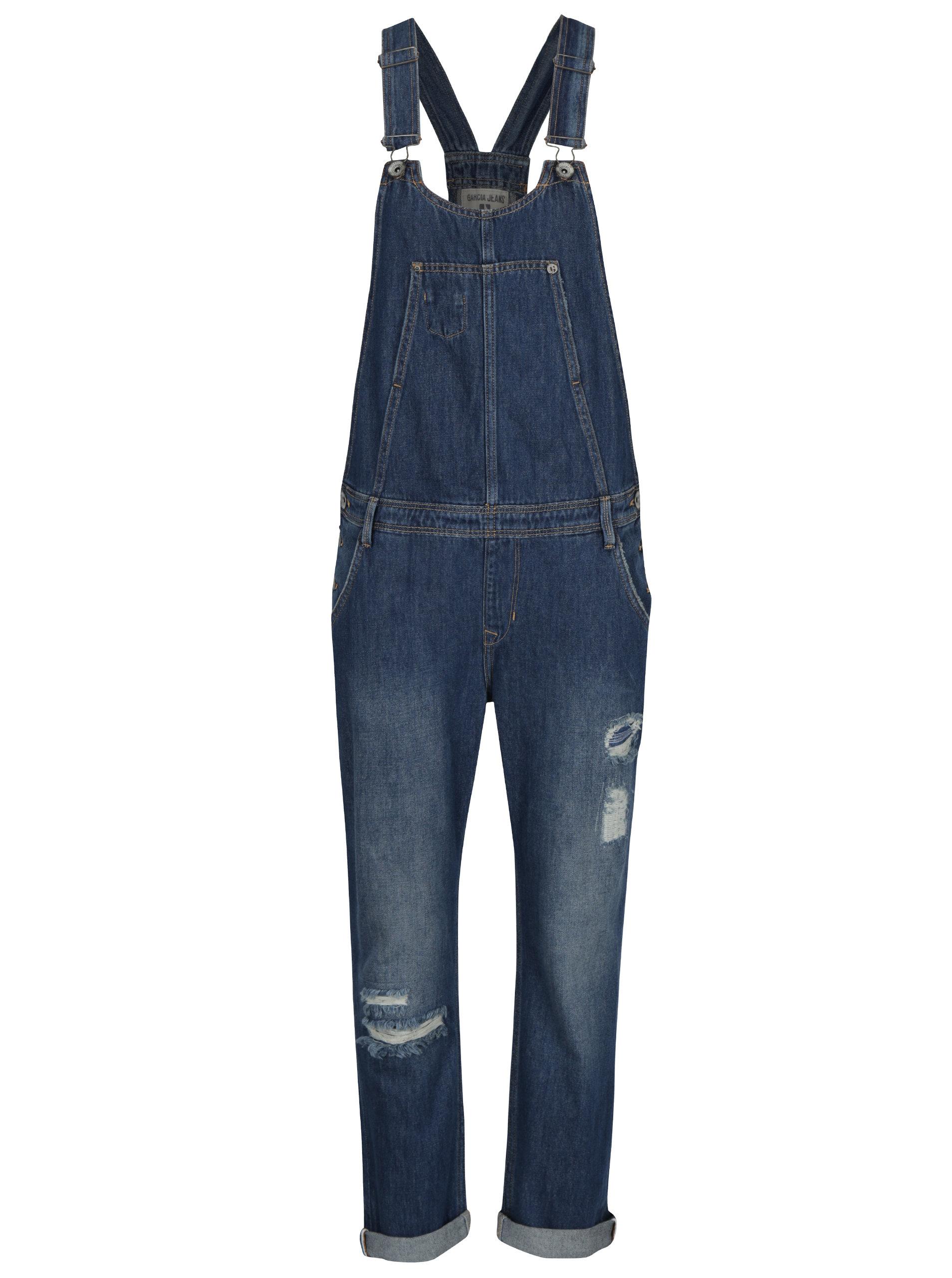 6a49e1fc98a Modré dámské džínové lacláče Garcia Jeans ...
