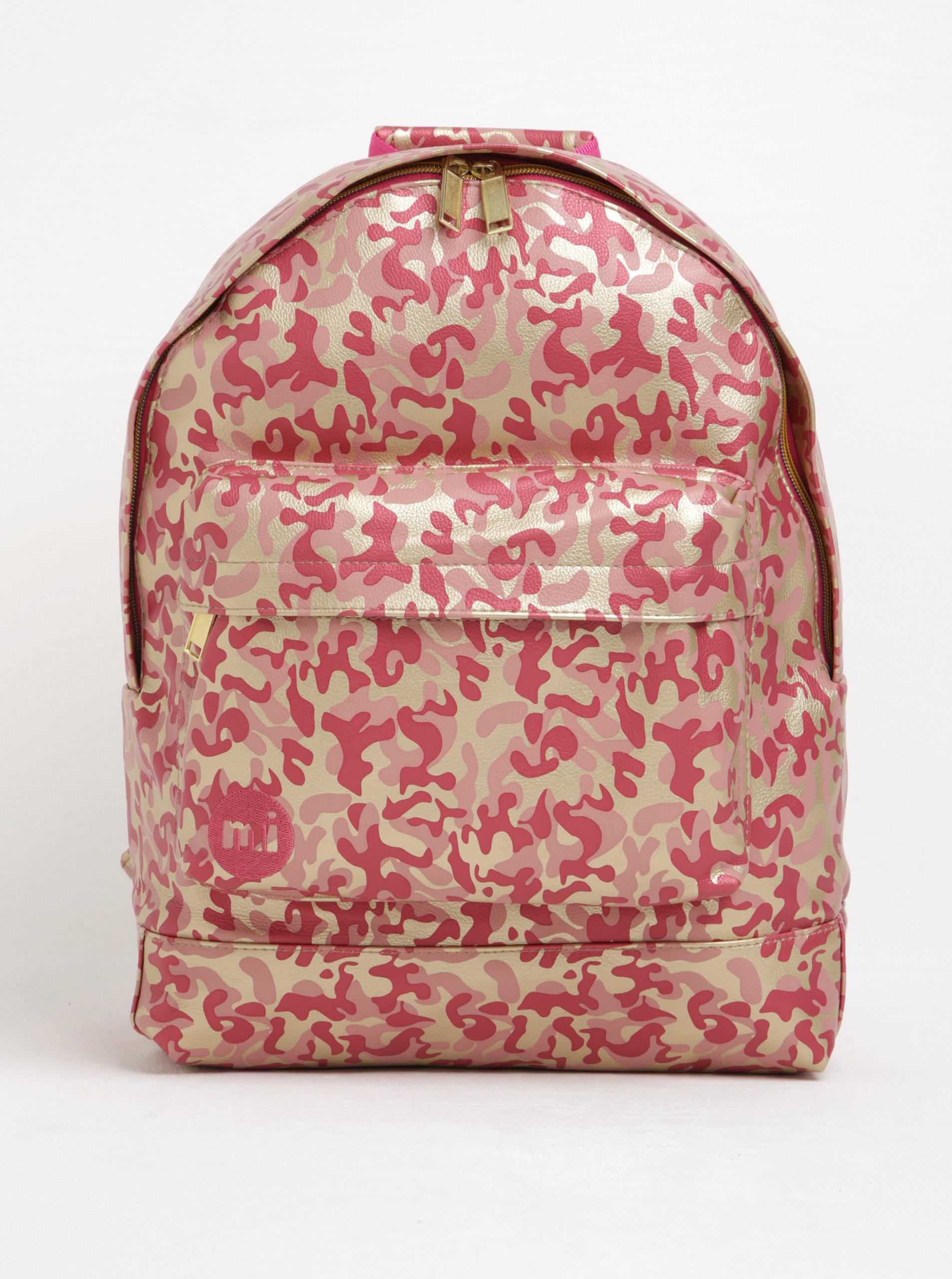 Zlato-růžový dámský vzorovaný batoh Mi-Pac Metallic Camo ... 7df993bb9d