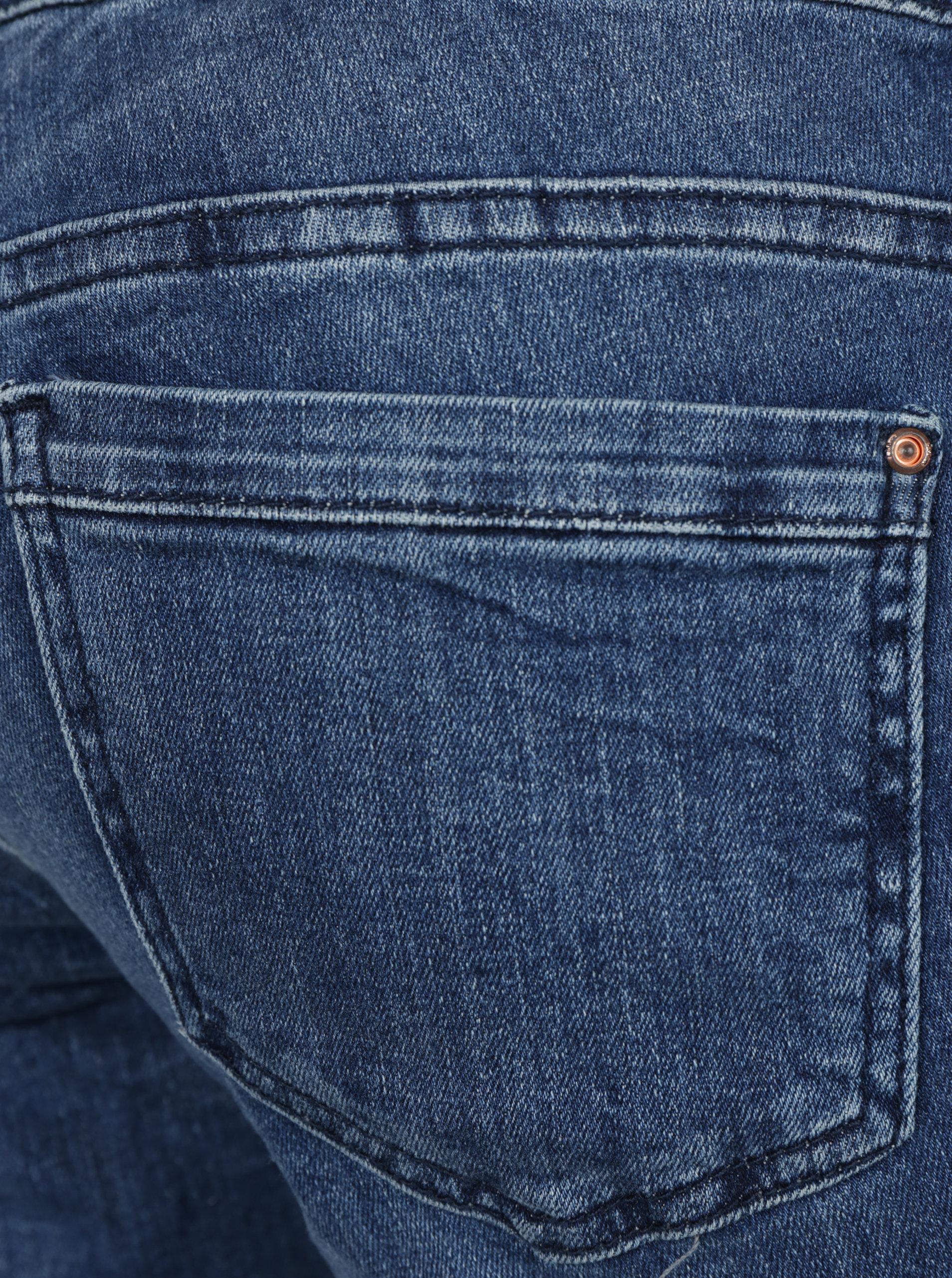 fa14892b0f3 Tmavě modré dámské džíny s vyšisovaným efektem s.Oliver ...