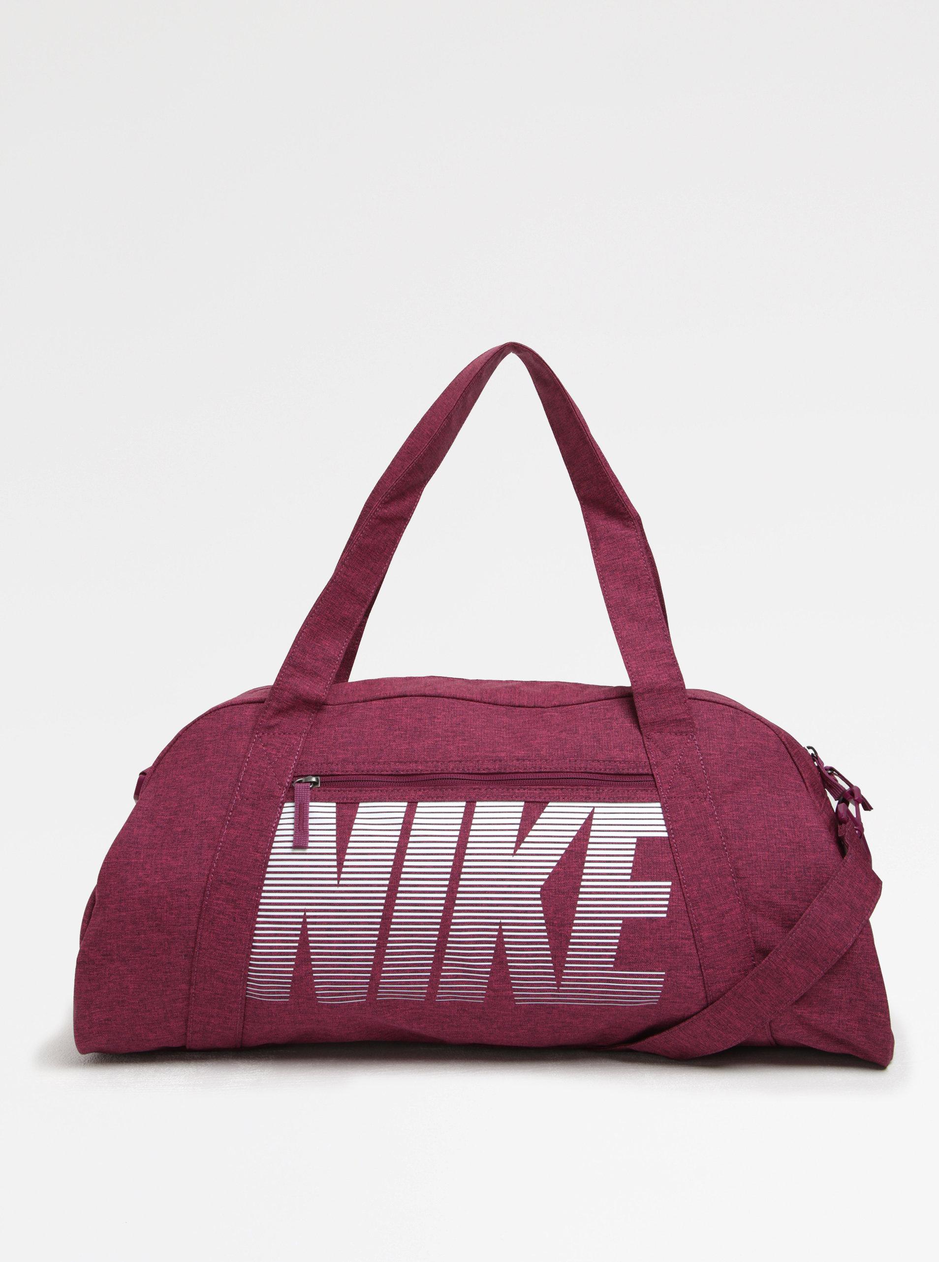 Ružová dámska športová taška s potlačou Nike Gym Club ... 970eb7ed3a