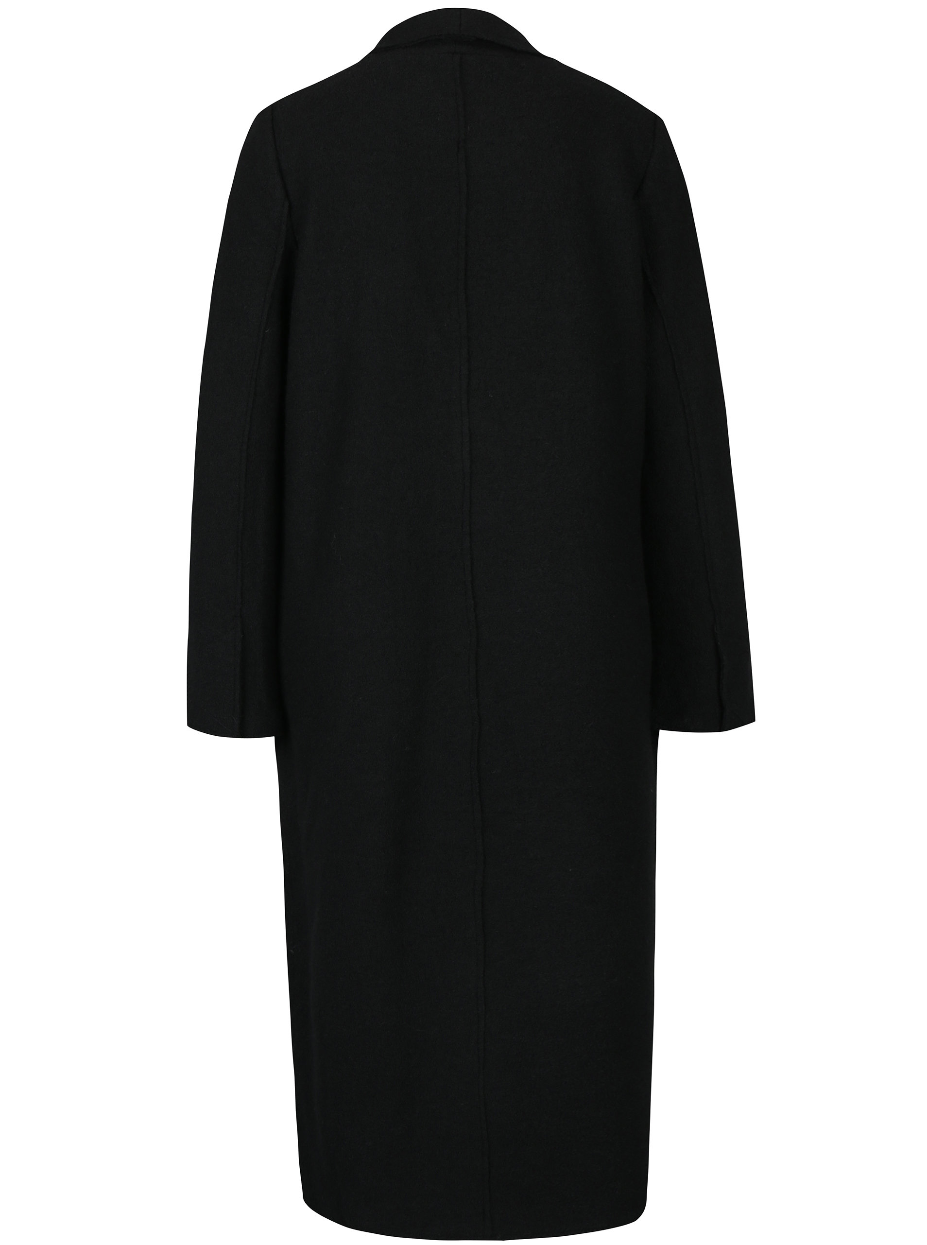 c7893f218b Čierny dámsky dlhý vlnený kabát Broadway Malea ...