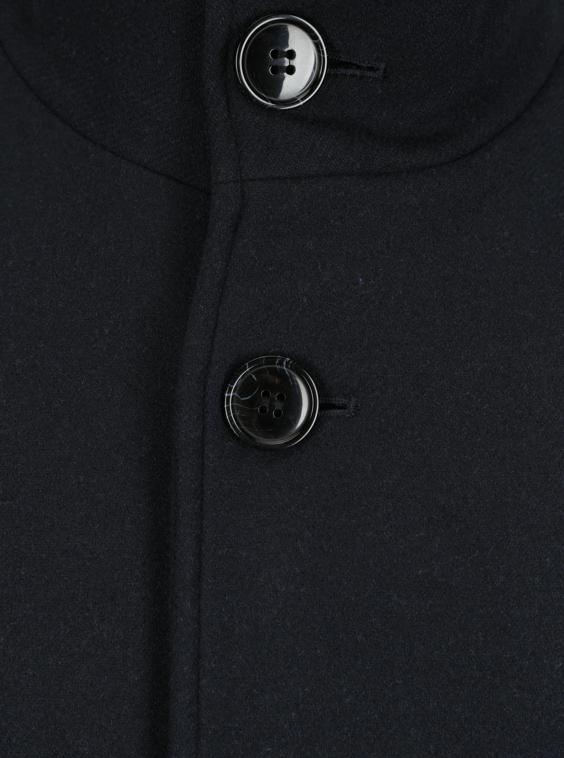 Tmavomodrý kabát s prímesou vlny Selected Homme Mosto ... b8ae62350b3
