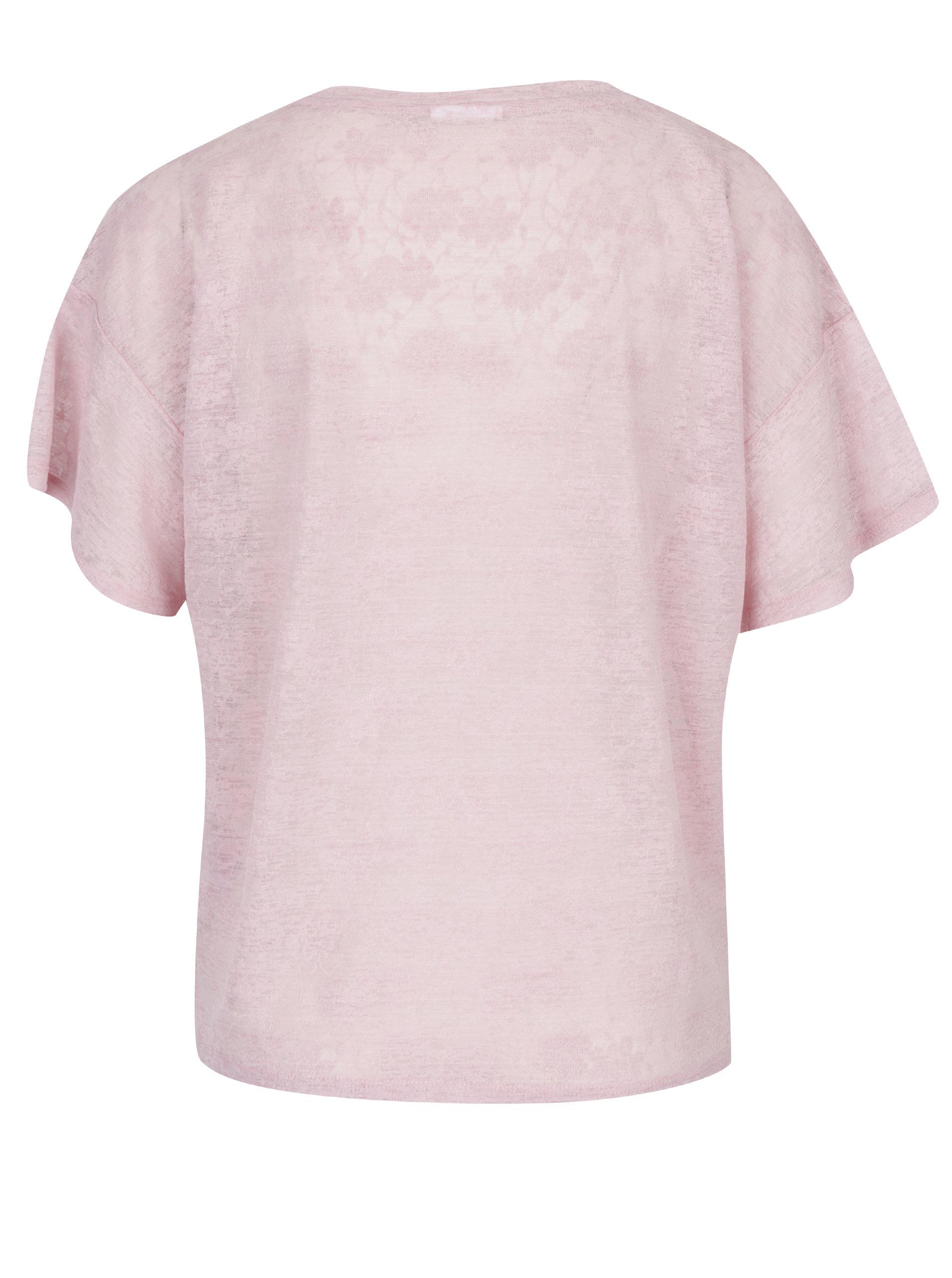 b0d3256b552 Růžové tričko s potiskem VILA Utti ...