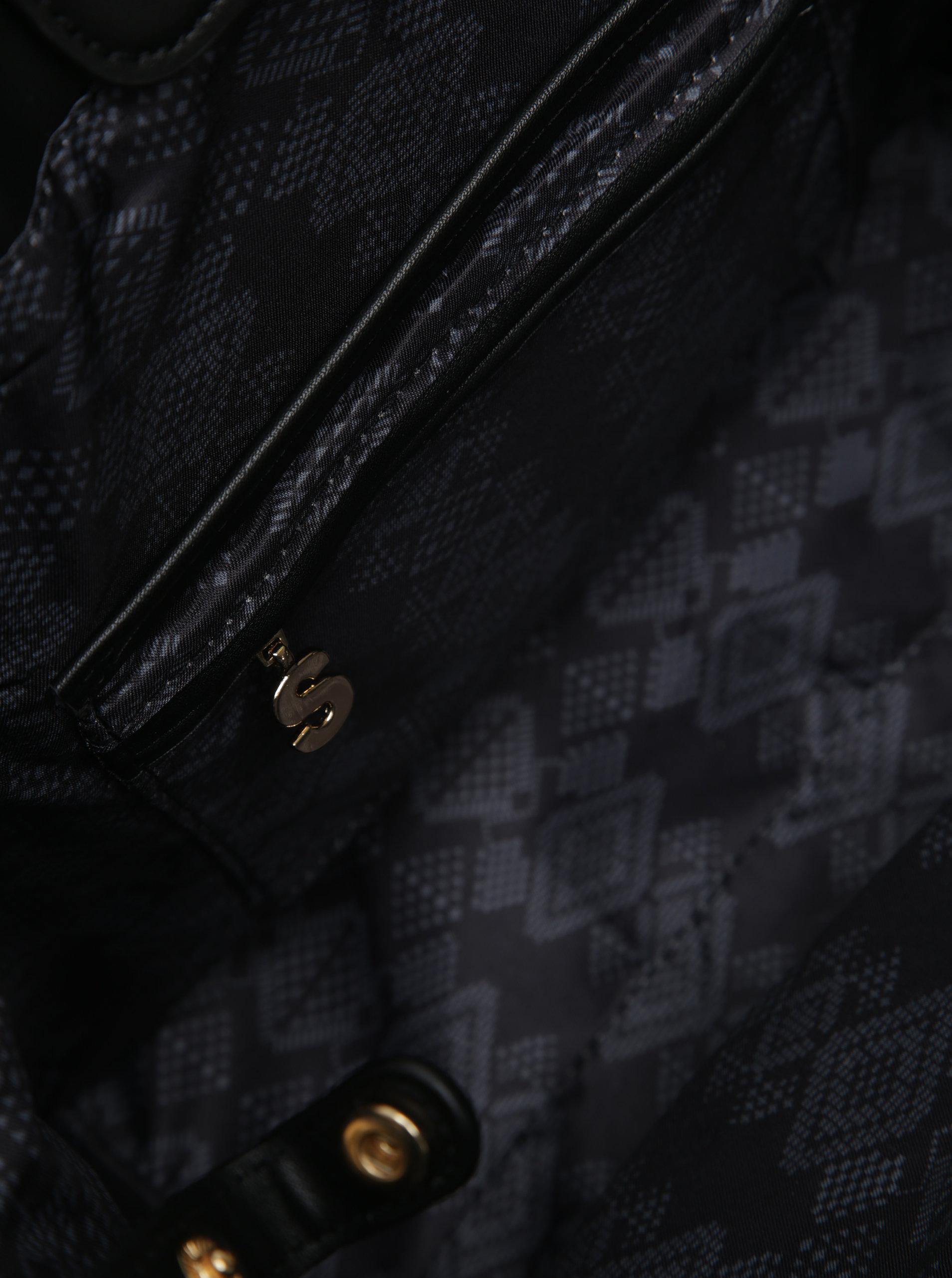 Černá vzorovaná kabelka s pouzdrem 2v1 Desigual Florida Lila ... f1fa407e53c