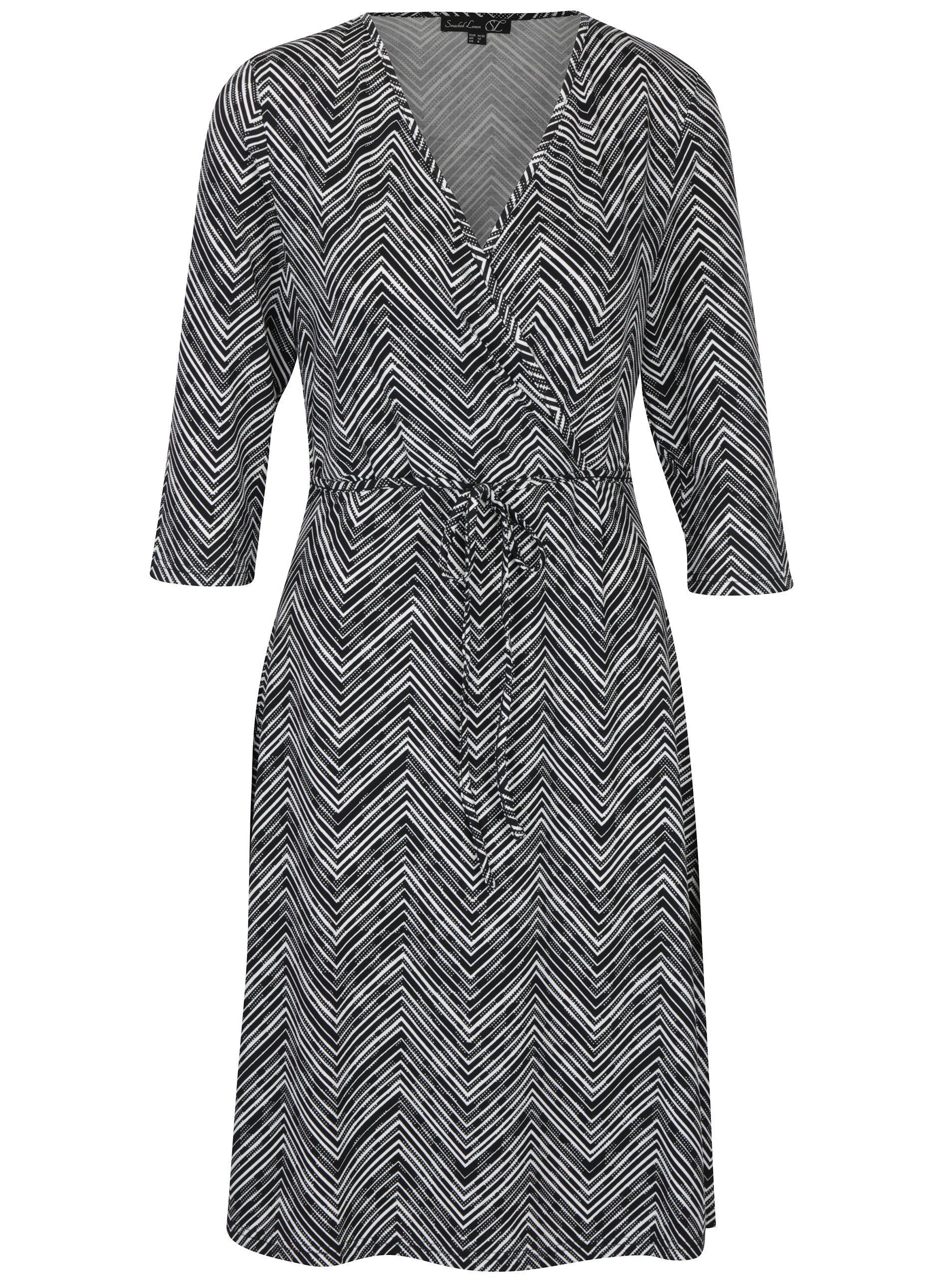 98c9e8856cf3 Čierne vzorované šaty Smashed Lemon ...