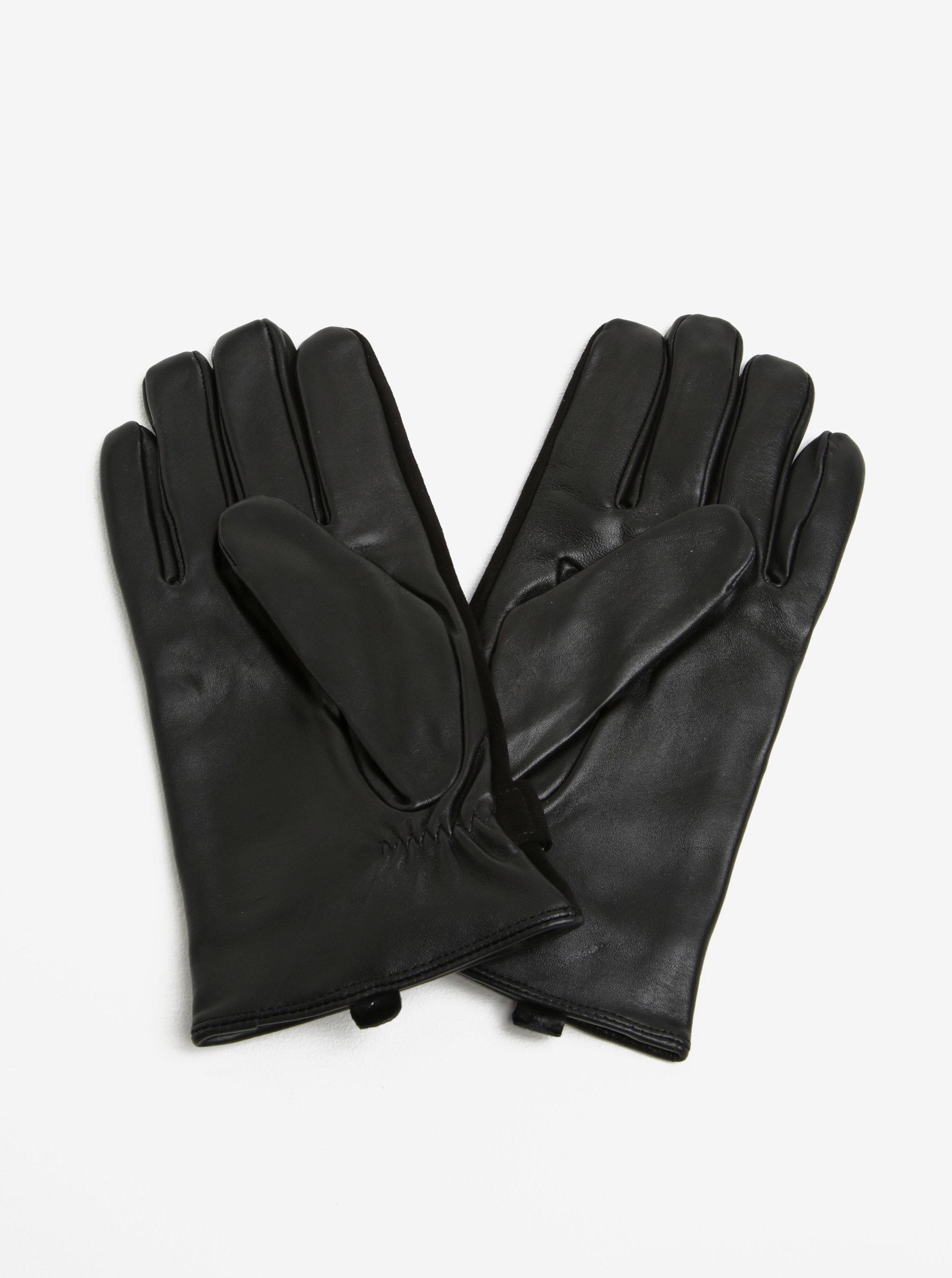 e22950c024c Černé semišové rukavice Selected Homme Eric ...