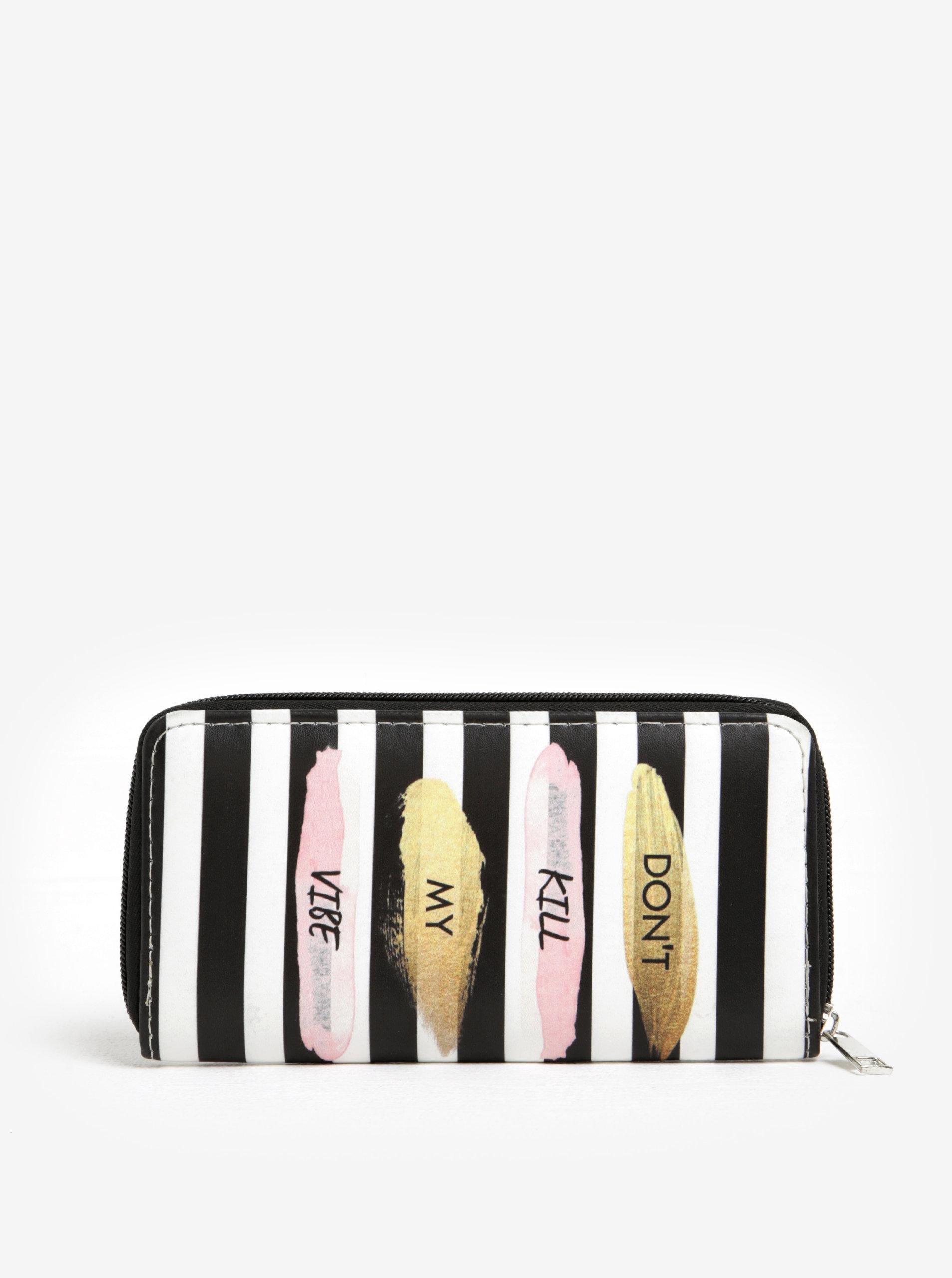 Černo-krémová pruhovaná peněženka Haily´s Hit