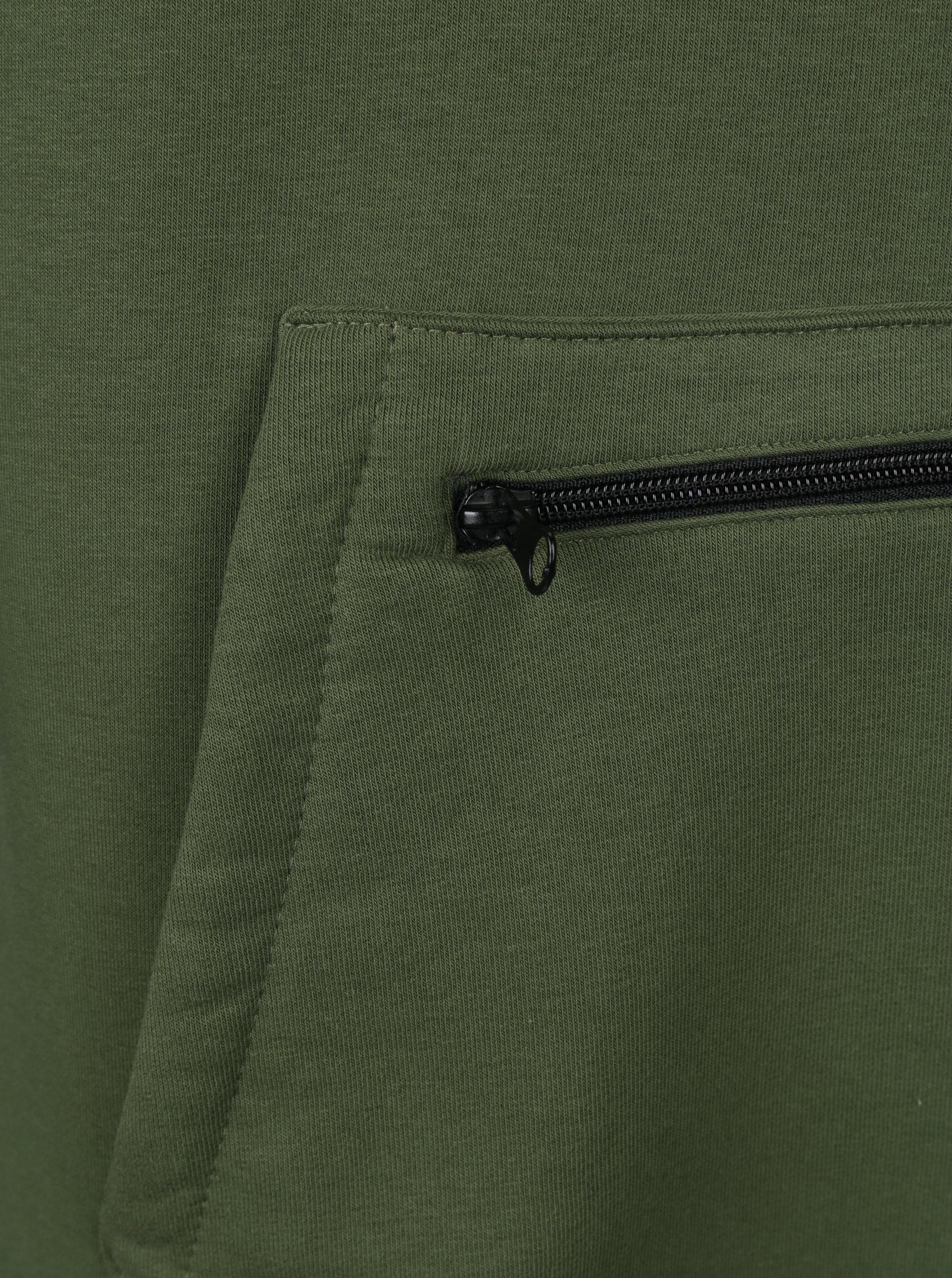 0ab7dc4b58fc Černo- zelená pánská dlouhá mikina s kapucí Horsefeathers Sherwin II Long  ...
