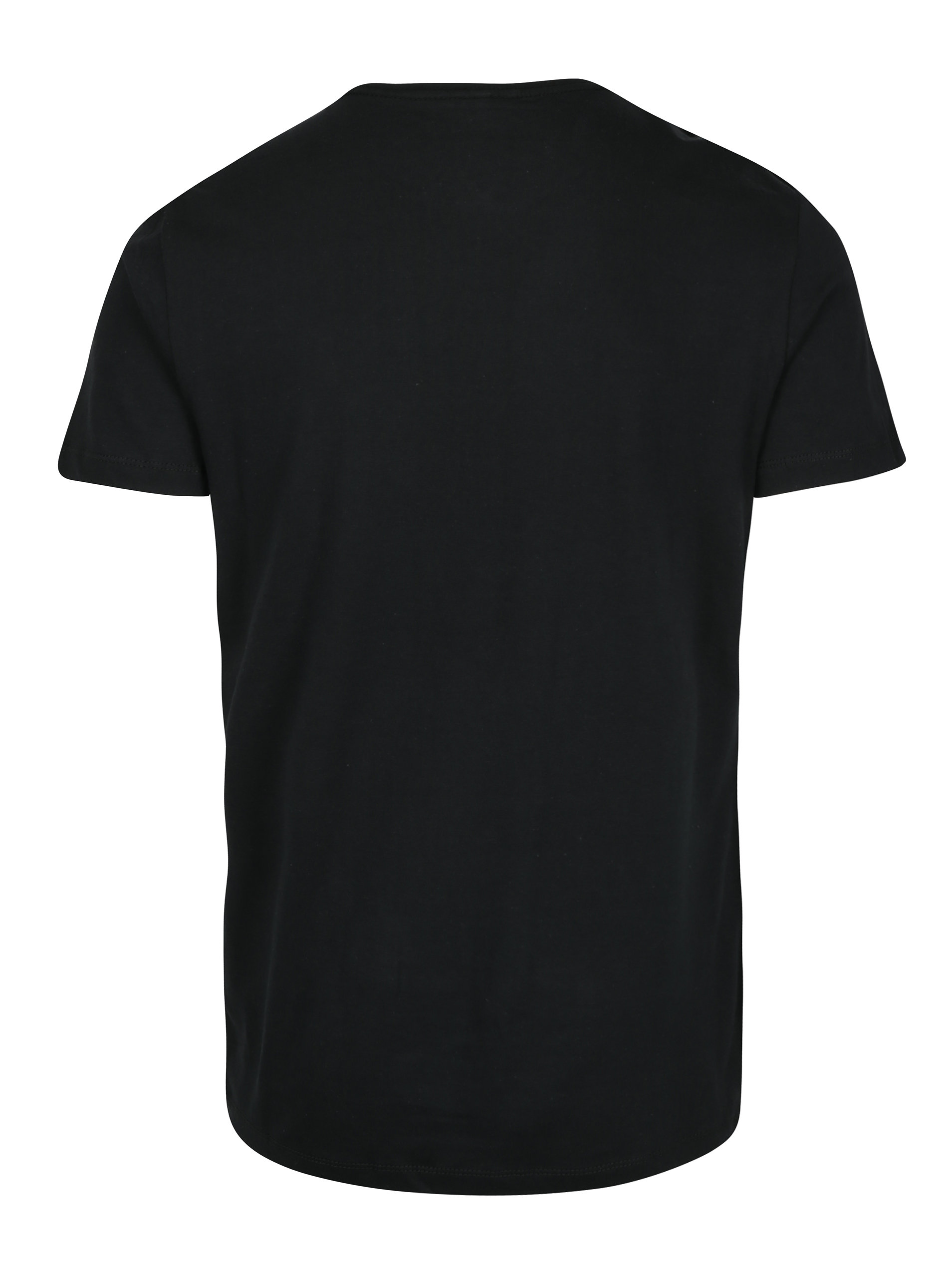 93f7380dd Čierne pánske slim fit tričko s potlačou a krátkym rukávom Blend ...