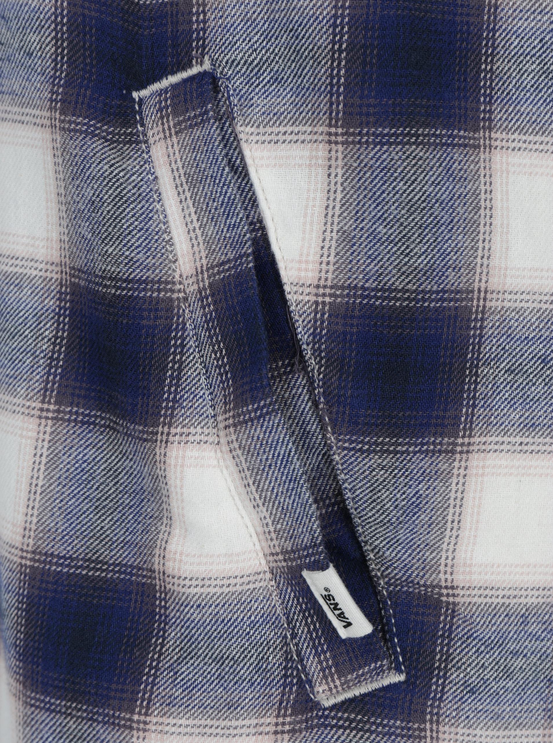 Krémovo-modré košeľové šaty VANS Brigade ... 7cfd19722f9