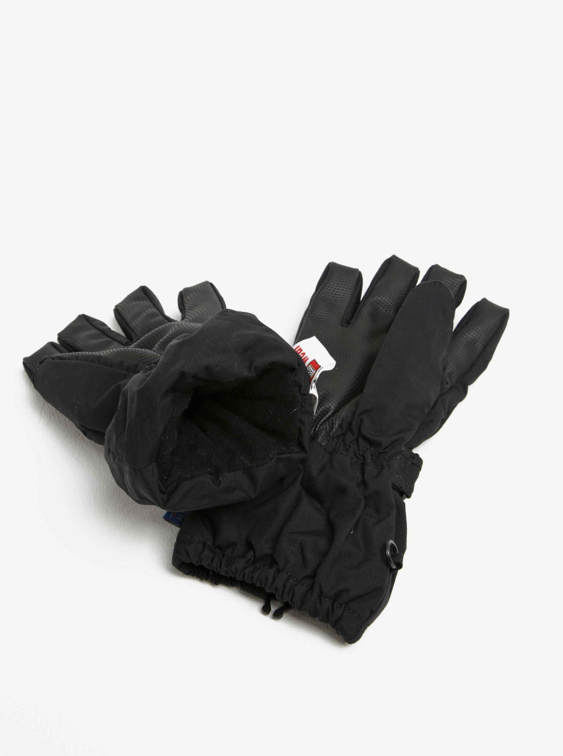 Černé dětské funkční rukavice s reflexním prvkem Lego Wear Alexa ... daf0edbc00