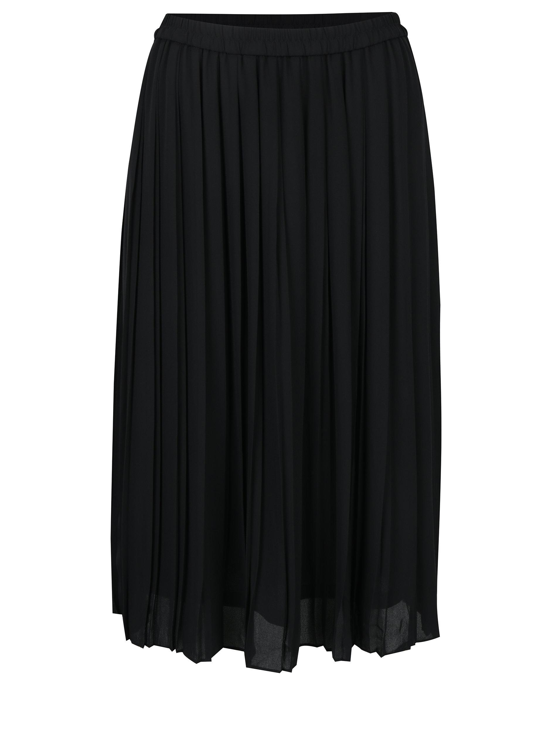 fbaa9a65a814 Černá plisovaná sukně VERO MODA Swing ...