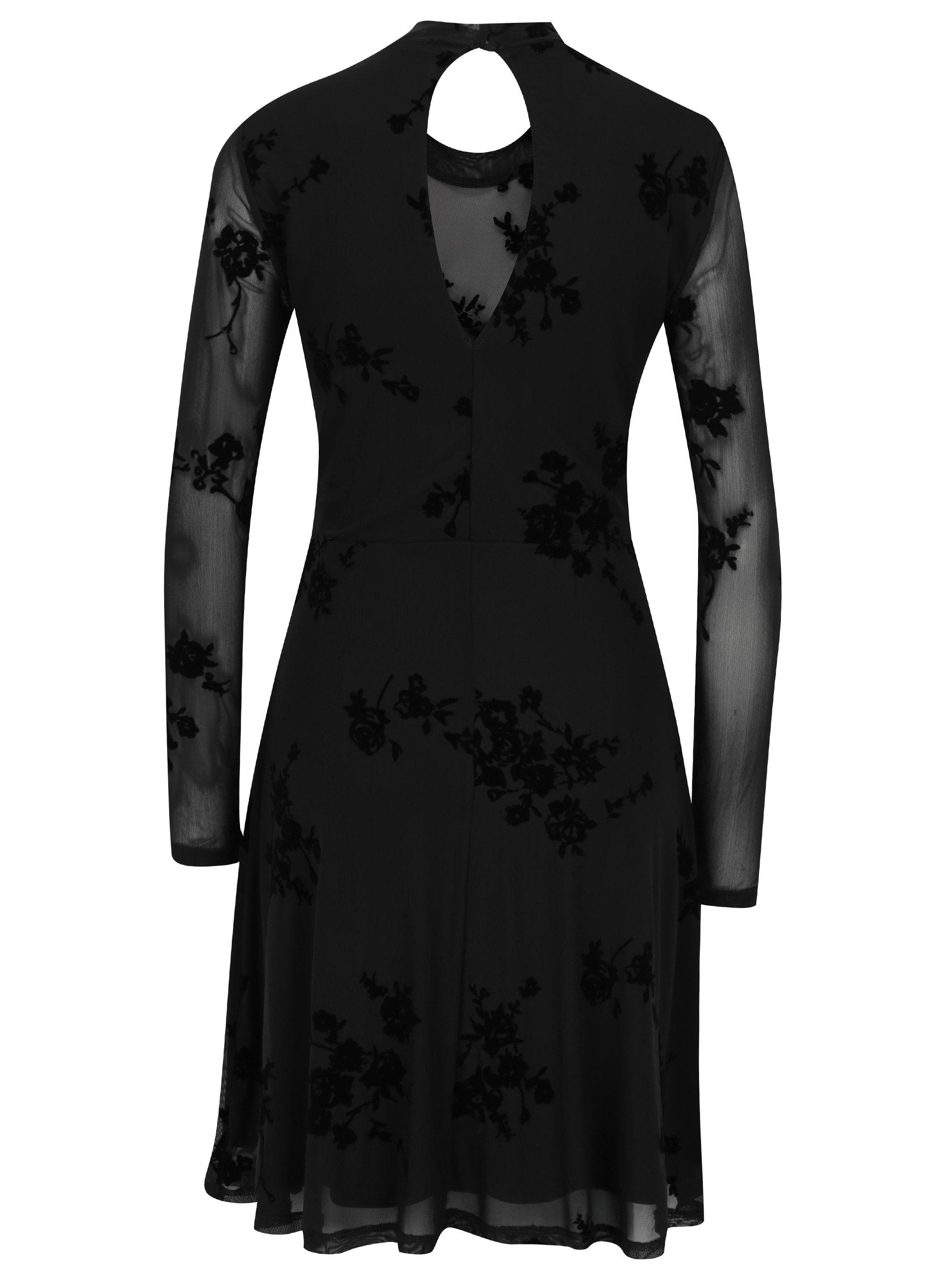 9a4fd6a812ad Čierne kvetinové šaty ONLY Nadi ...