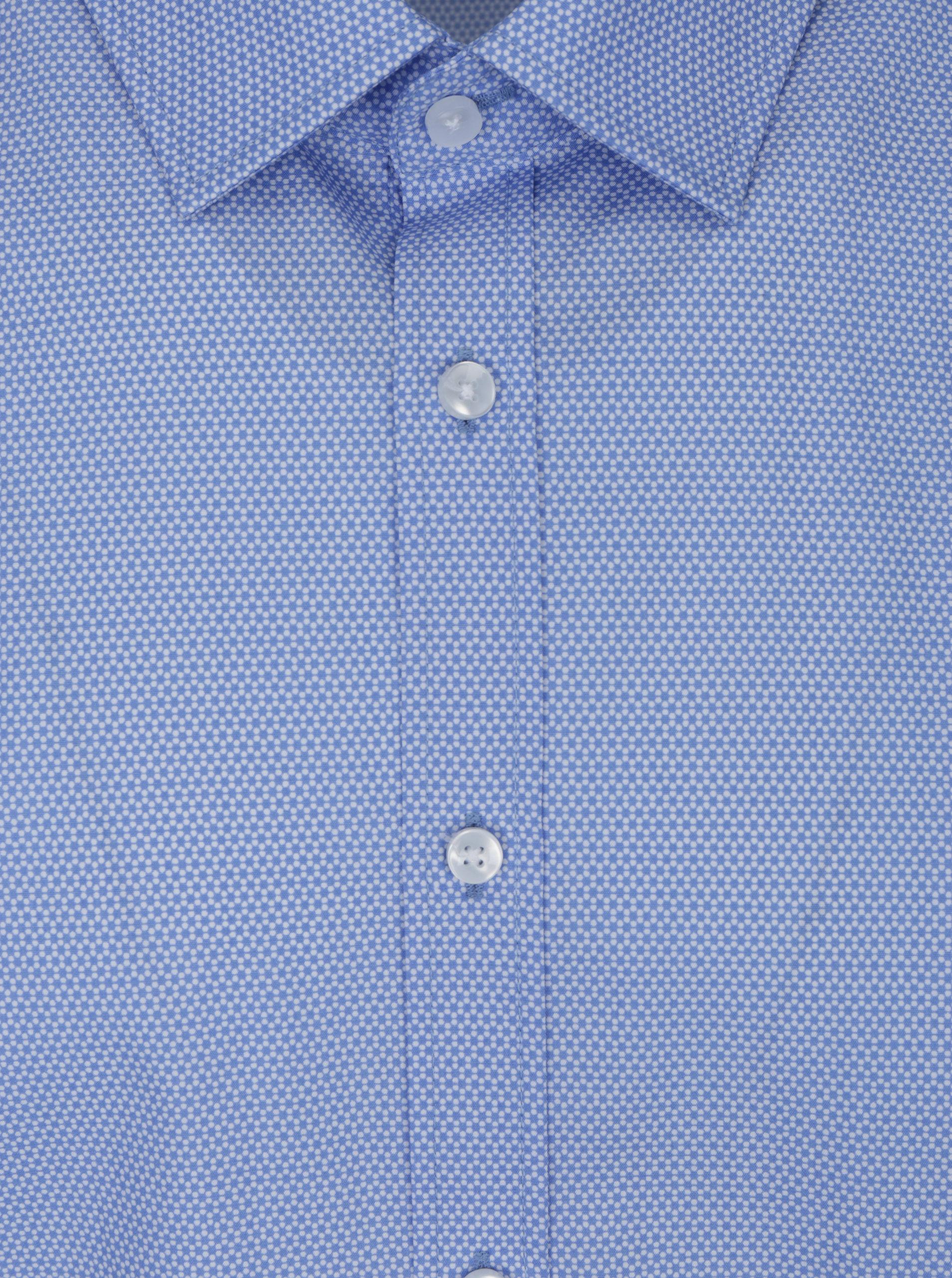 2778d4c1e0f6 Svetlomodrá formálna vzorovaná slim fit košeľa Seidensticker ...