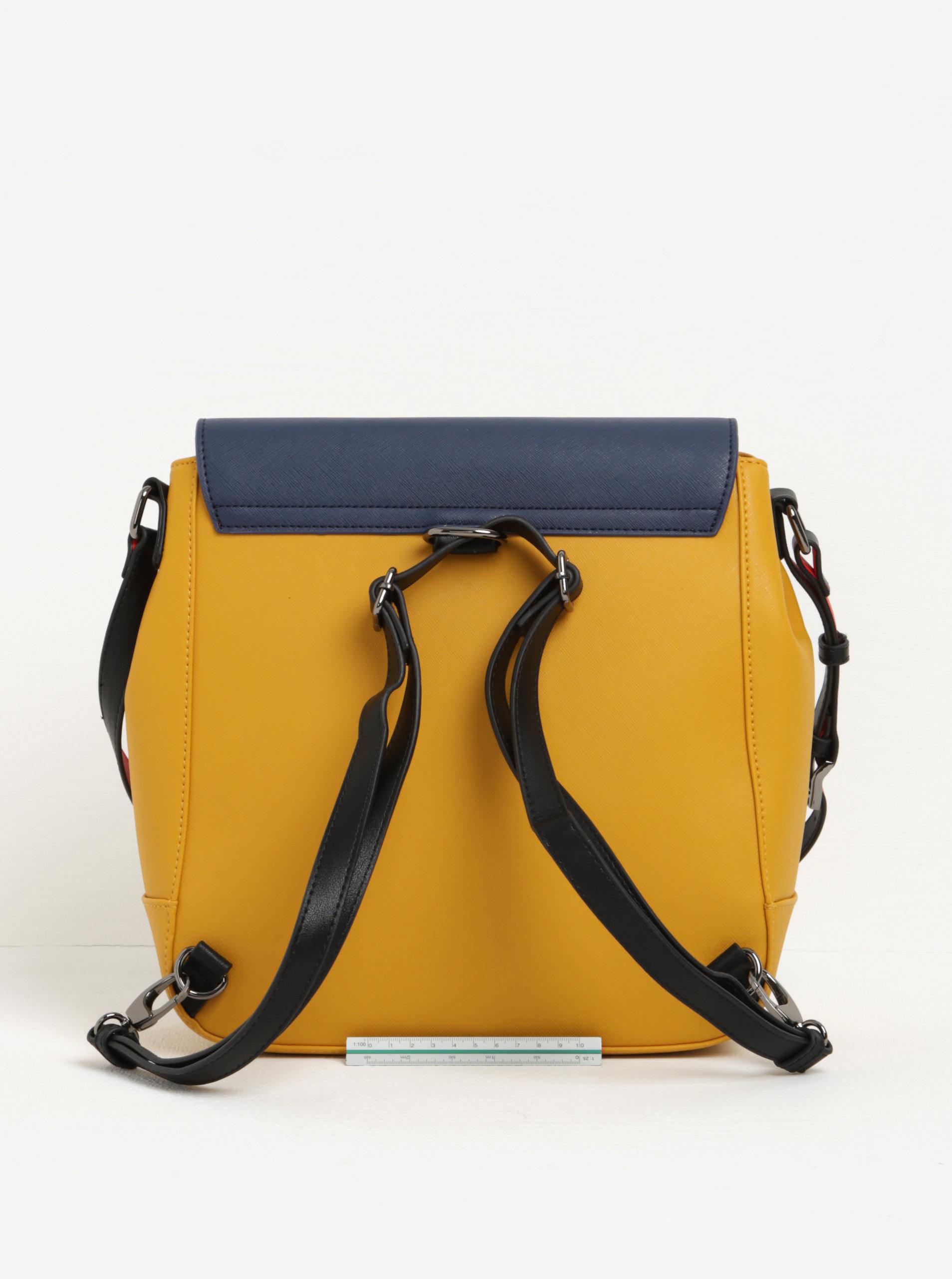 a888d81b2c Žluto-modrá kabelka batoh 2v1 s červenými detaily Paul s Boutique Zena ...
