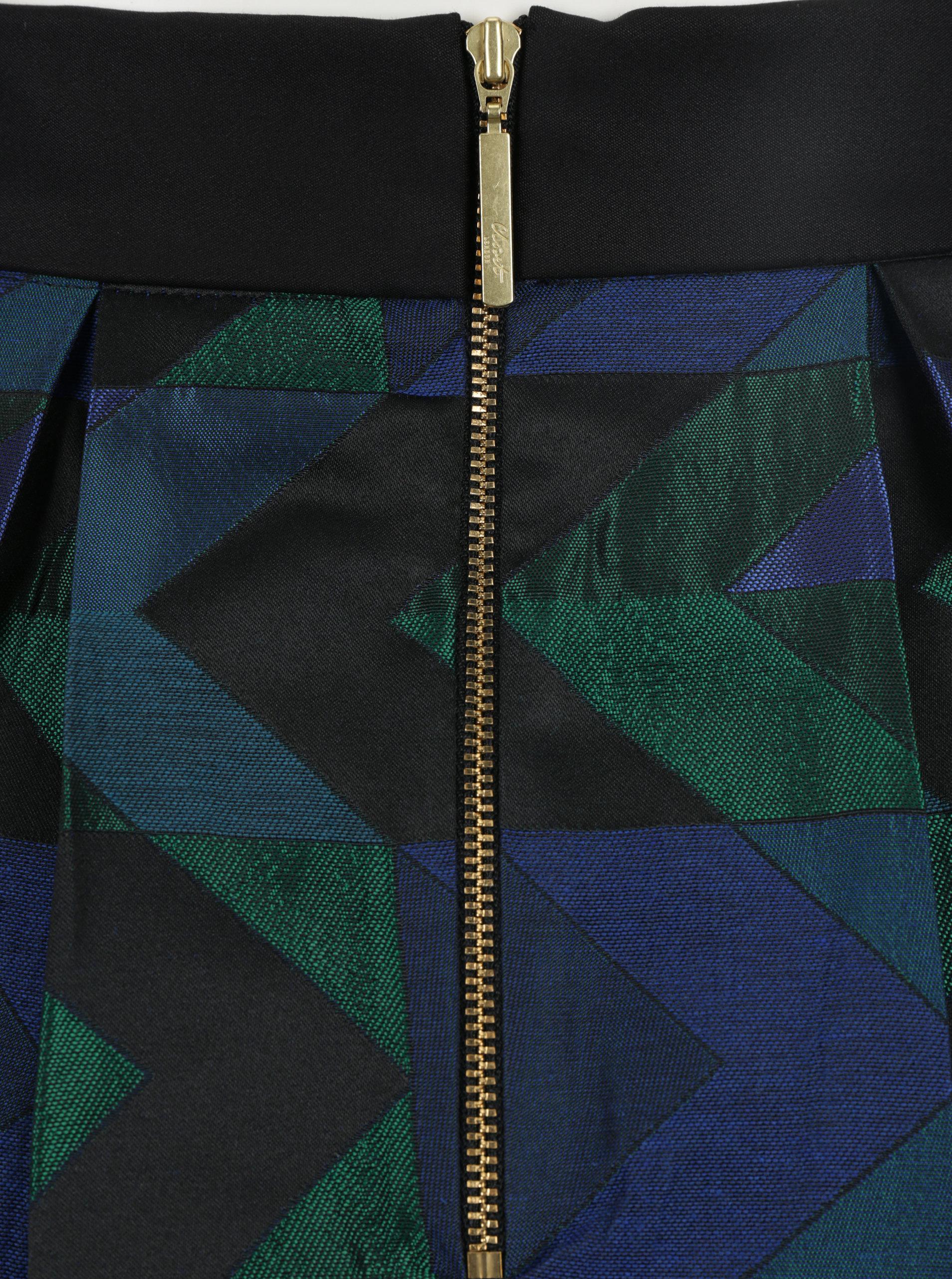 0c201ad88111 Zeleno-čierna vzorovaná áčková sukňa Closet ...