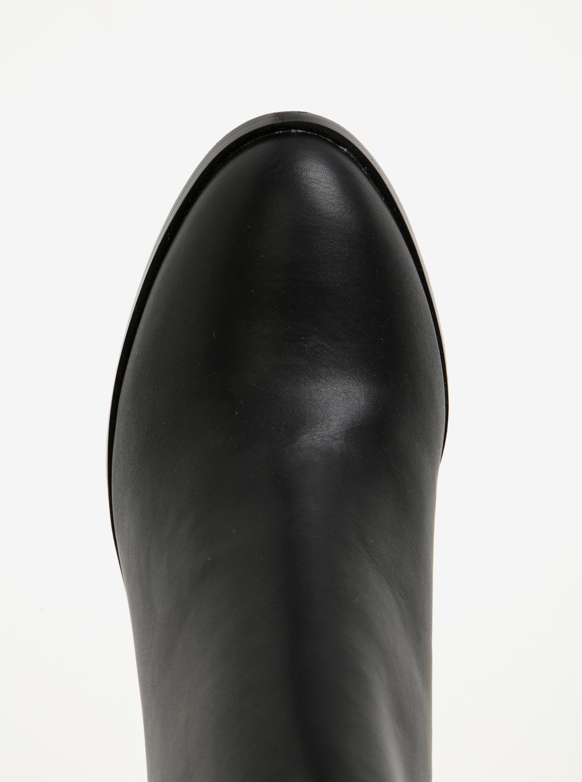 8d8391e45fb7 Čierne dámske členkové topánky Pieces ...