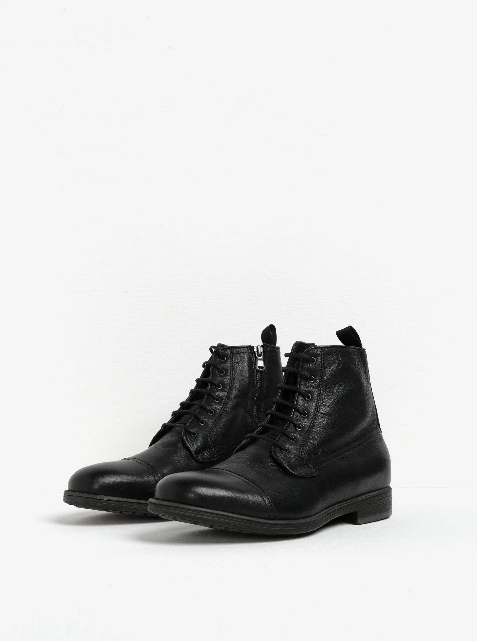 Čierne pánske zateplené kožené topánky Geox Jaylon ... 168c1ad79e