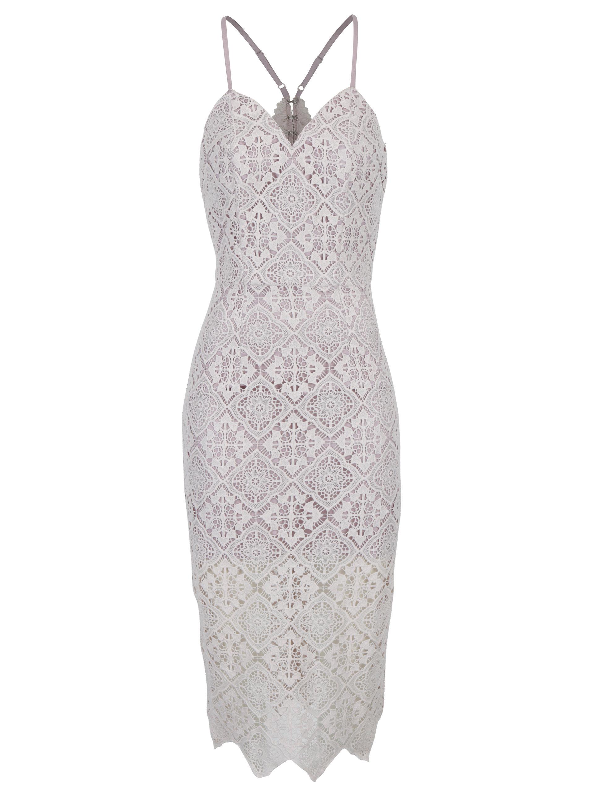 a5221562bf4 Světle fialové krajkové šaty Chi Chi London ...