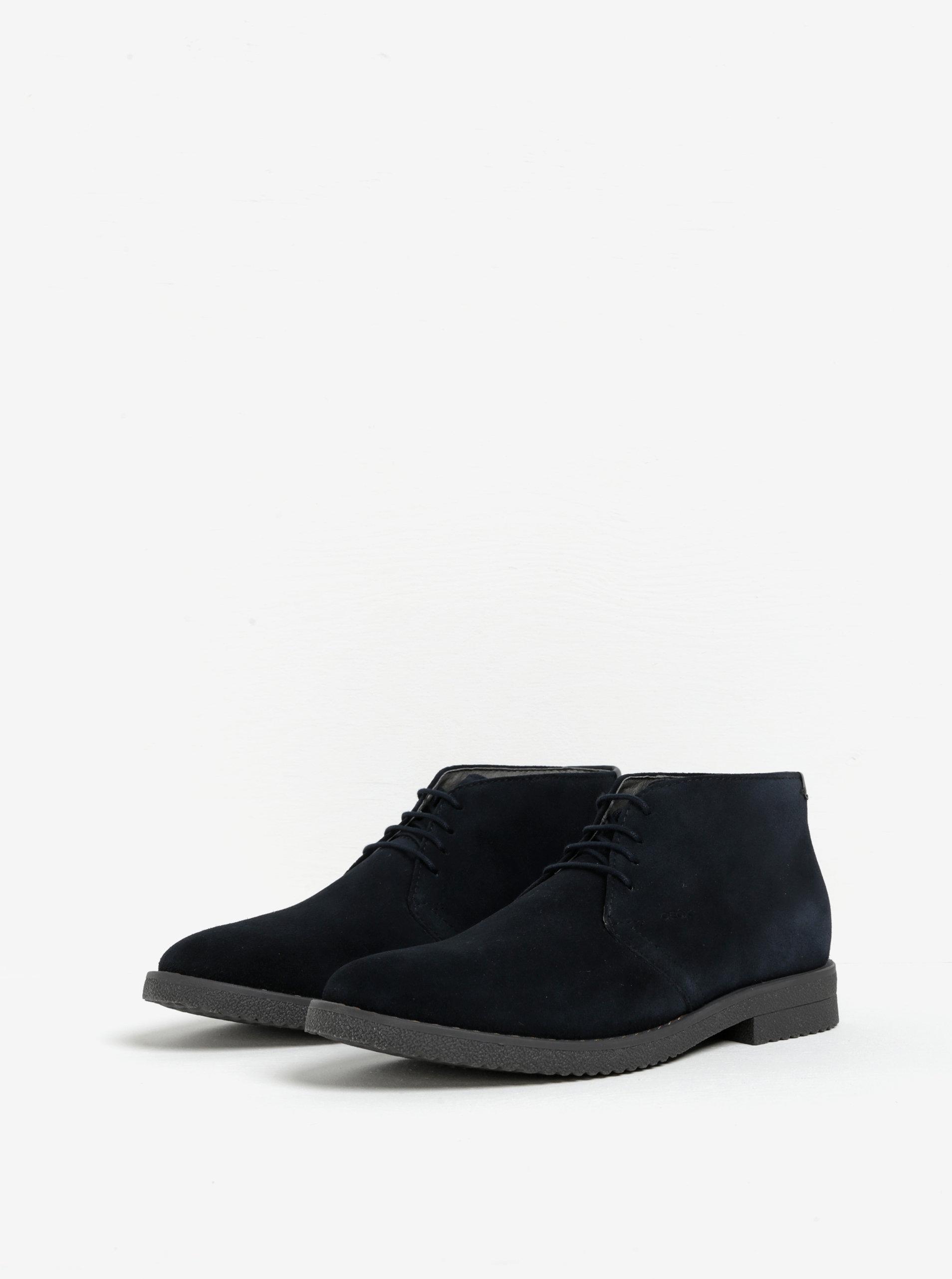 Tmavě modré pánské semišové kotníkové boty Geox Brandled ... f2da43e136
