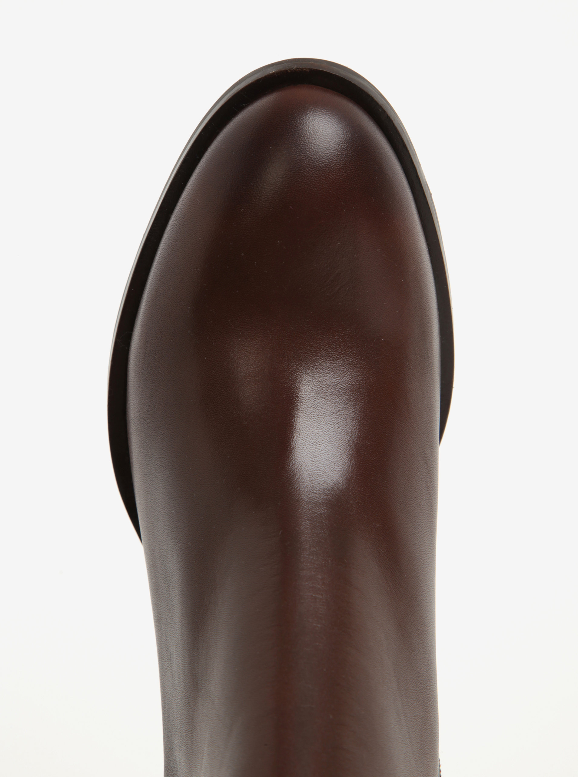 64a6b842cc1d Hnedé dámske kožené členkové topánky na podpätku Tommy Hilfiger Penelope ...