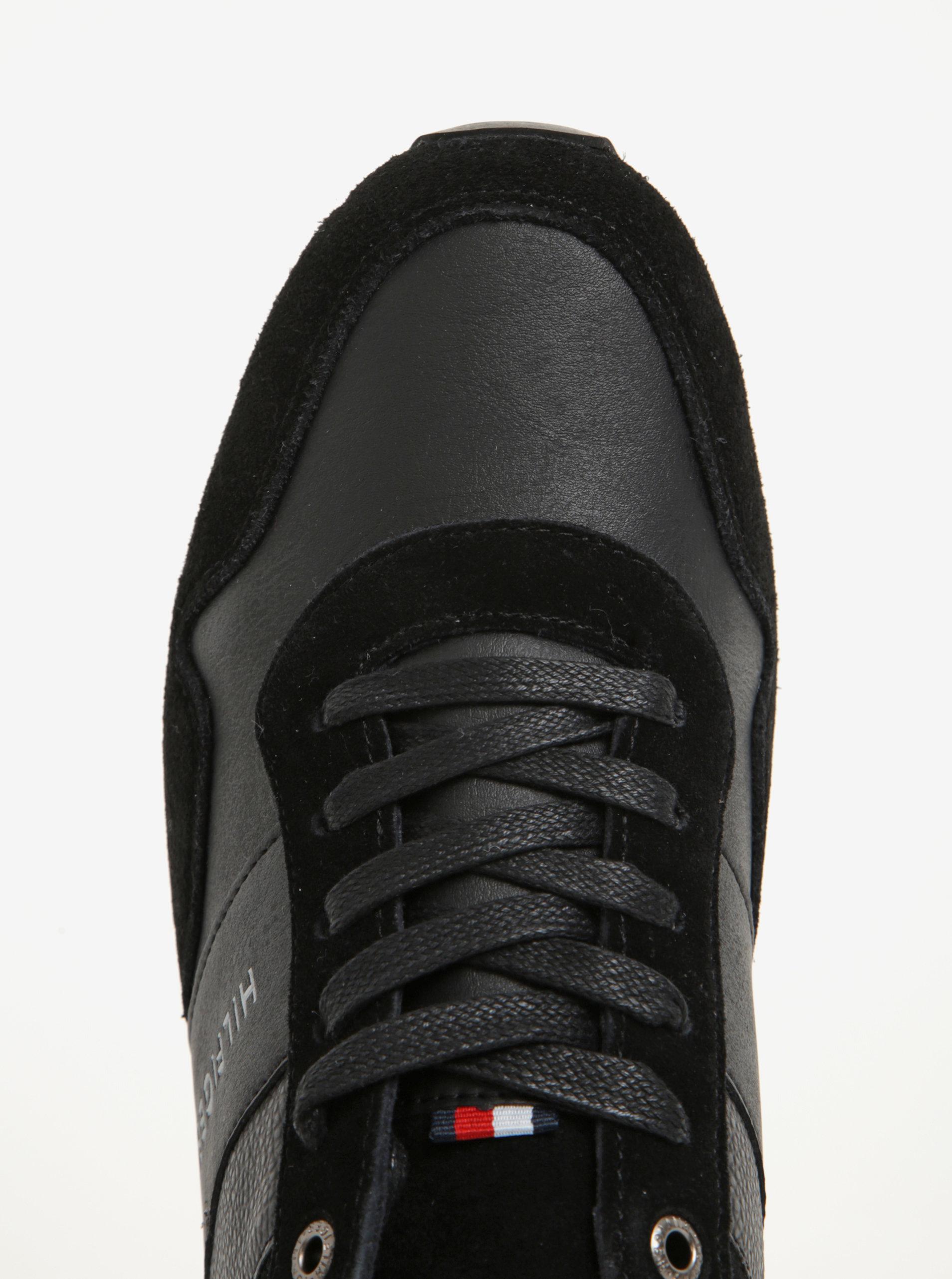 ab5d4865c4 Čierne pánske tenisky so semišovými detailmi Tommy Hilfiger Maxwell ...