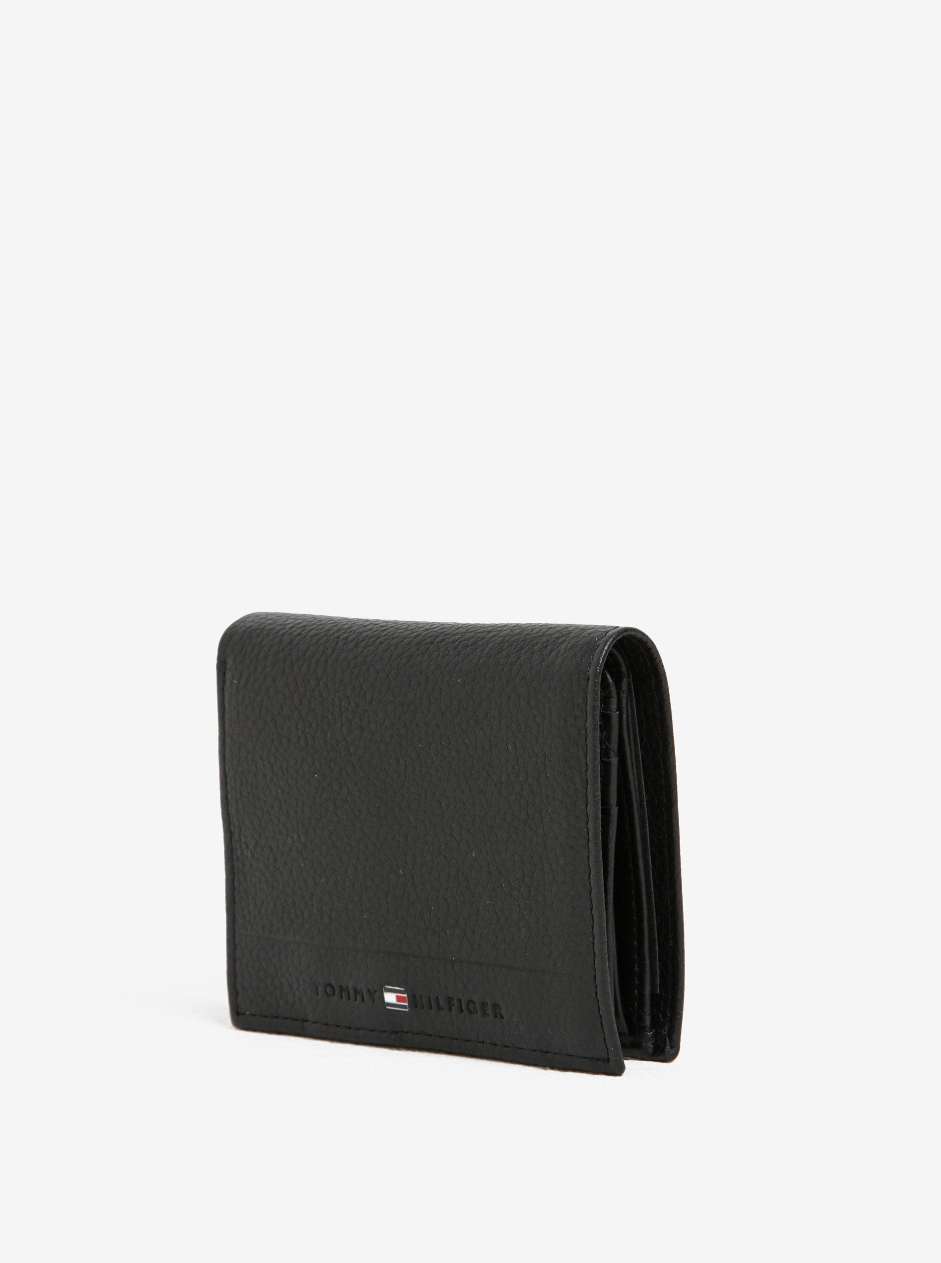 čierna pánska kožená peňaženka Tommy Hilfiger core ... 0e28cb4d5bd