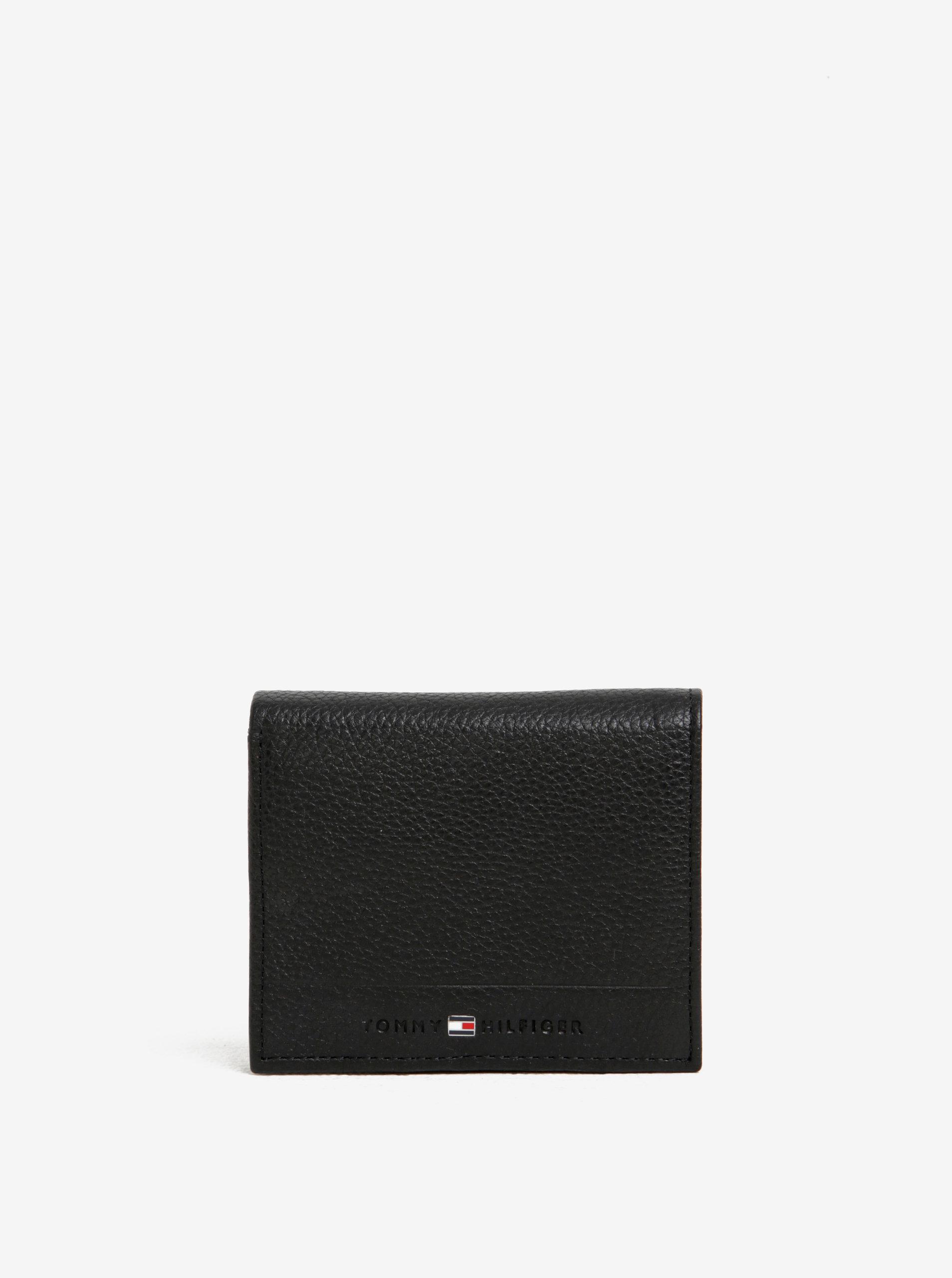 65e696cf58 čierna pánska kožená peňaženka Tommy Hilfiger core ...