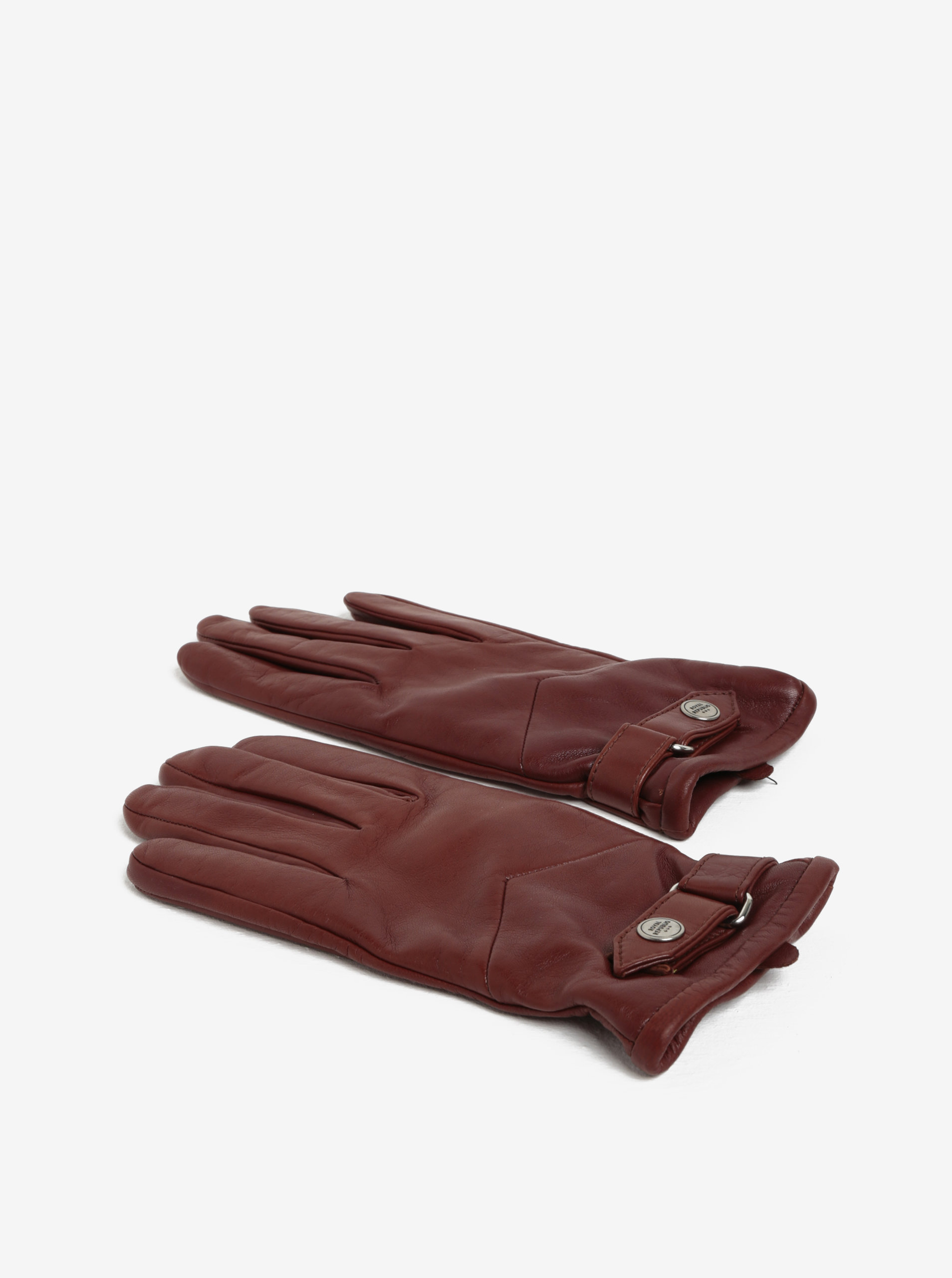 16cad91a6ca Hnědé pánské kožené rukavice s kašmírovou podšívkou Royal RepubliQ ...