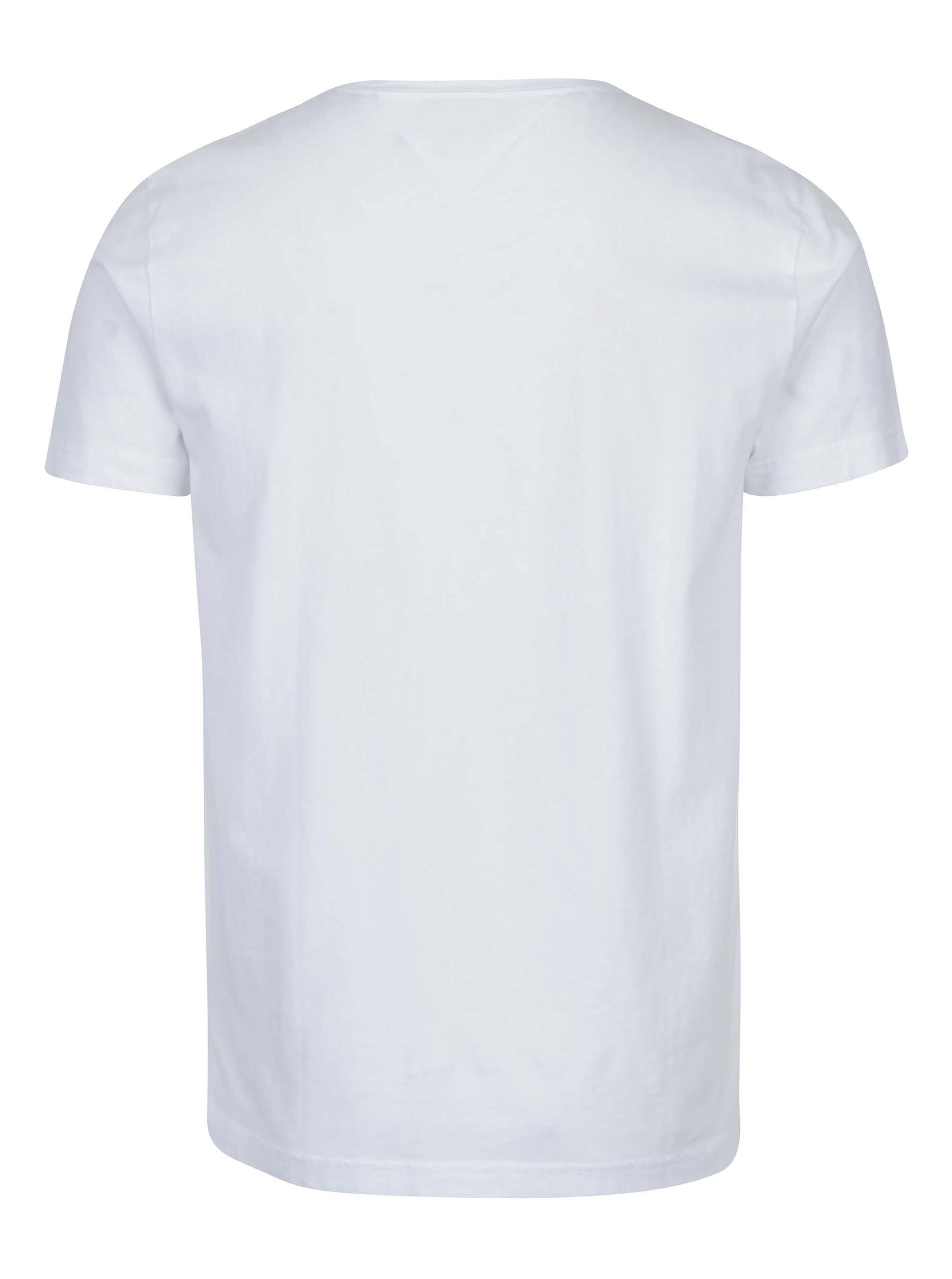 754c8ee2ab Biele pánske tričko s potlačou Tommy Hilfiger Norman ...