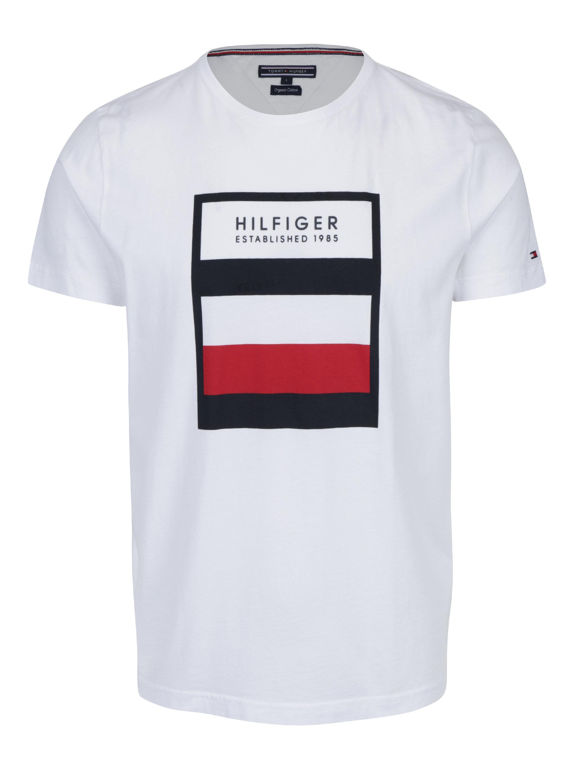 1b95425f028 Biele pánske tričko s potlačou Tommy Hilfiger Norman ...