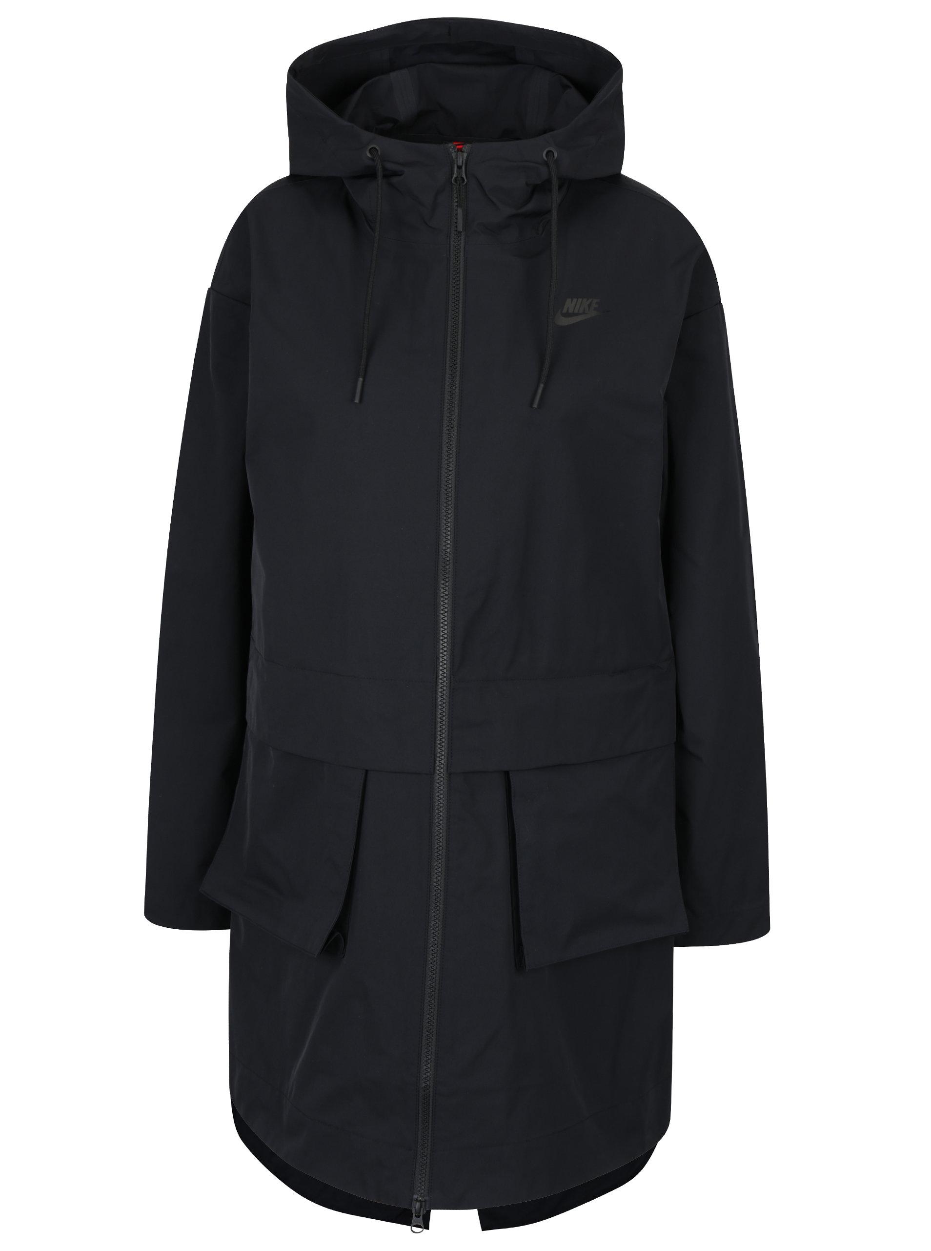 72b47e8ac Geaca parka neagra impermeabila cu buzunar detasabil pentru femei Nike ...