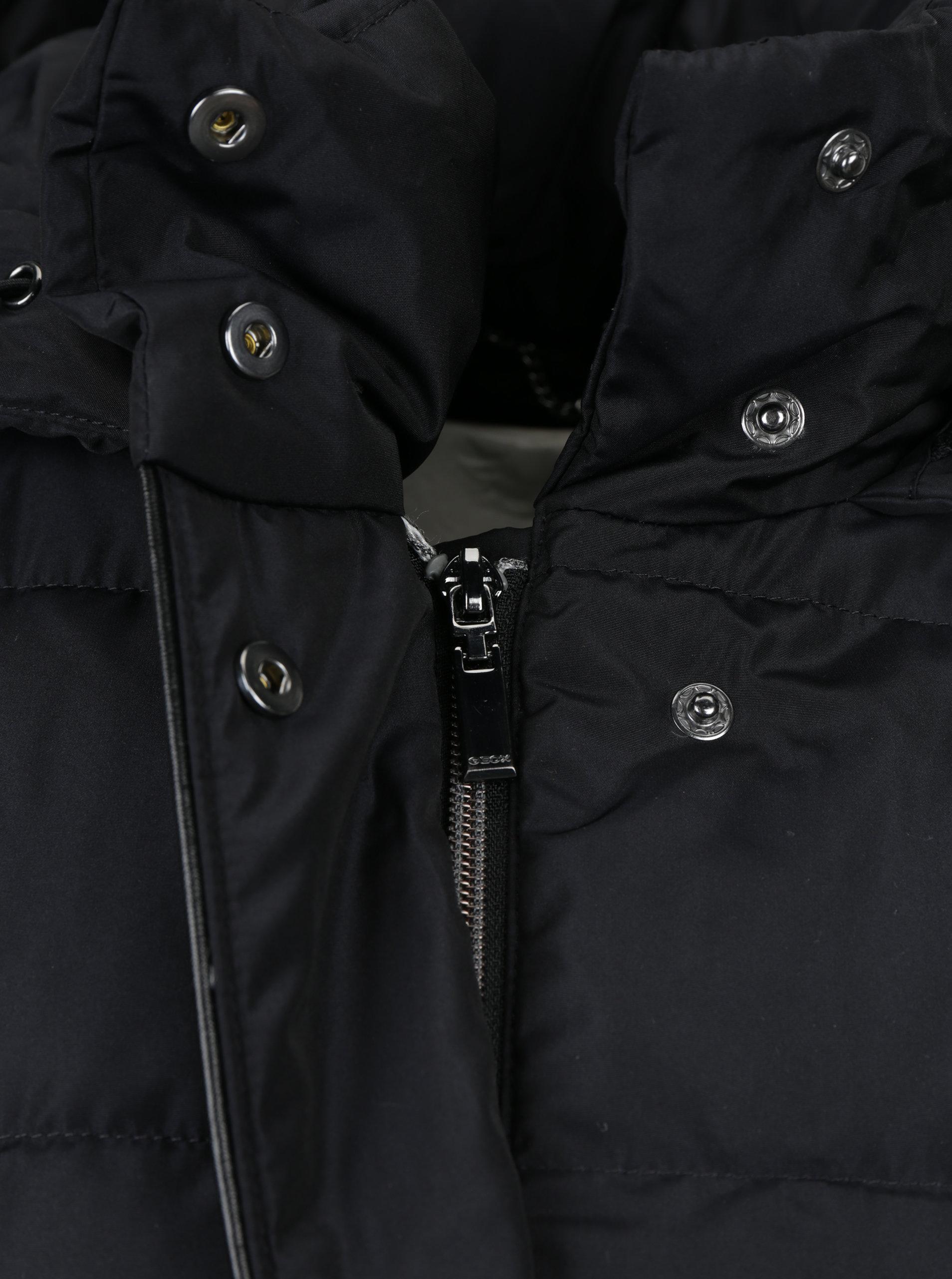 Černý dámský prošívaný kabát Geox ... 46f465dc00