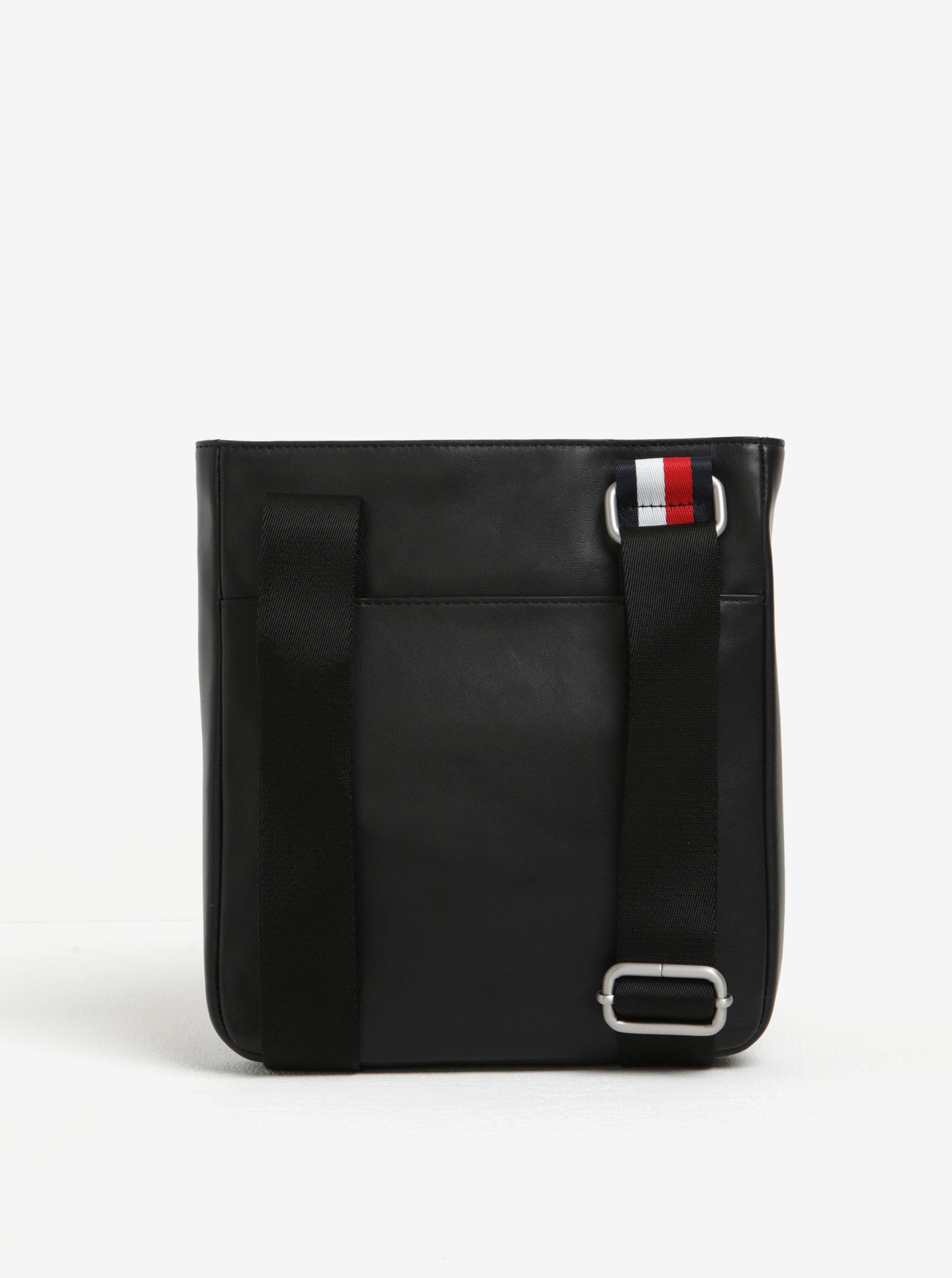 Černá pánská kožená crossbody taška Tommy Hilfiger Smooth ... 37e6a54537