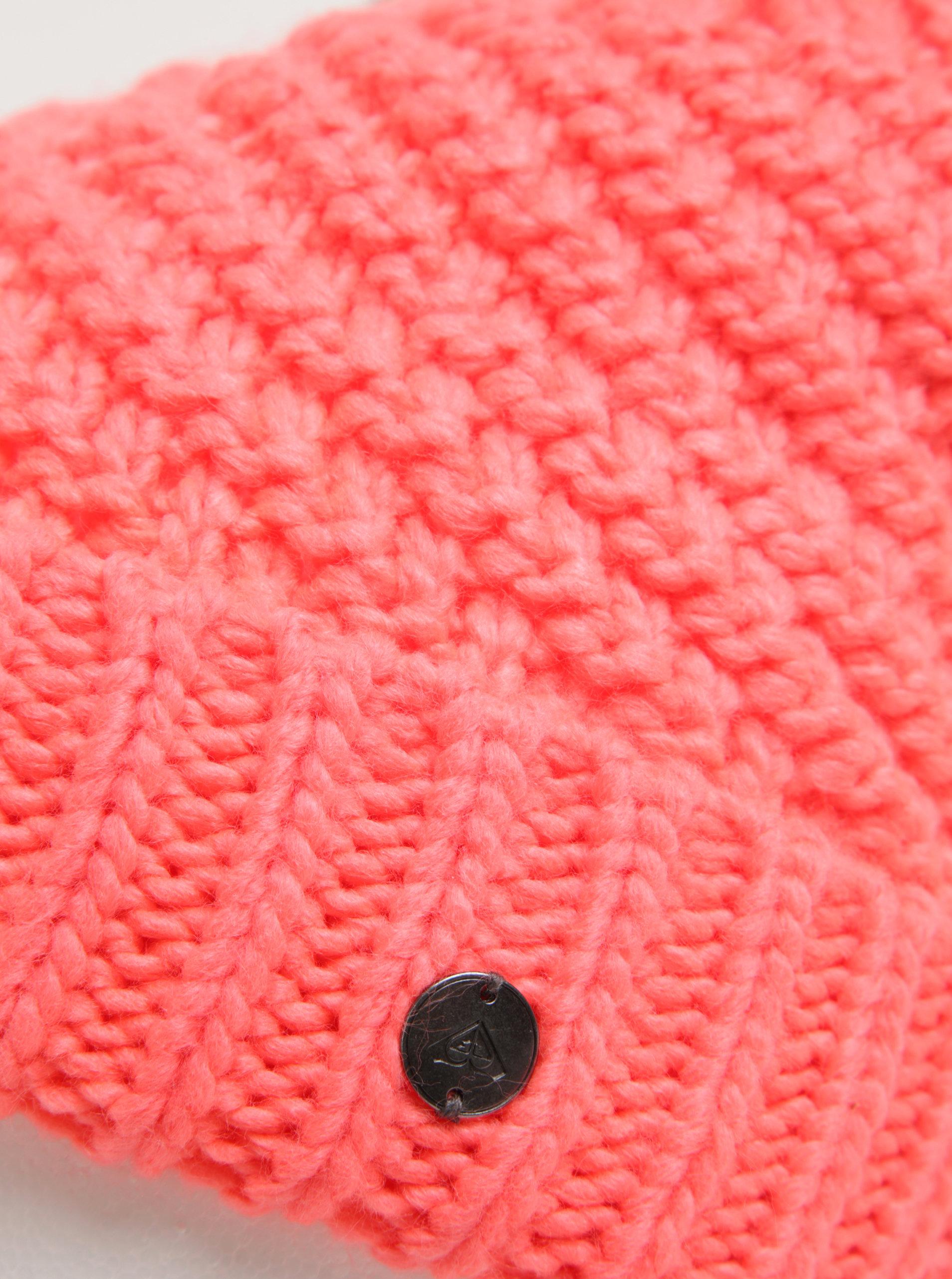 d54169532 Neónovo ružová dámska pletená čiapka s brmbolcom Roxy Blizzard   ZOOT.sk
