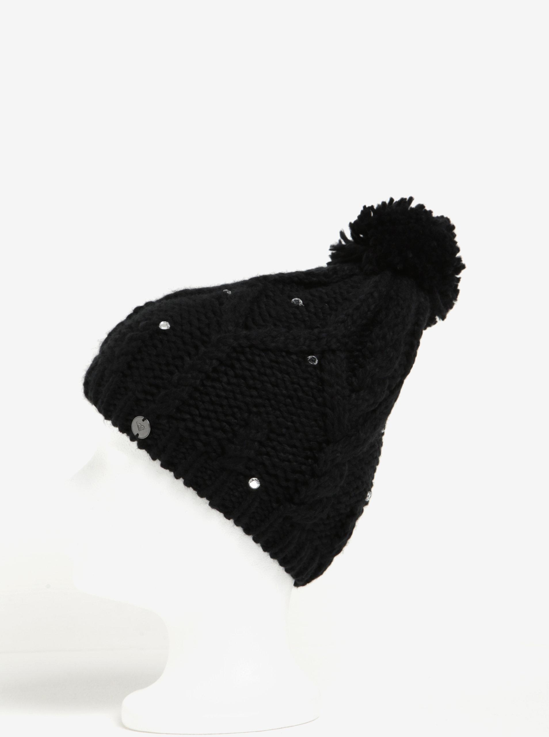 523a7804d Čierna dámska pletená čiapka s kamienkami Roxy Shoot Star | ZOOT.sk